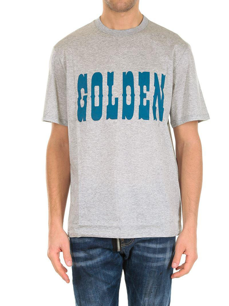 Gray melange t-shirt with logo Golden Goose Cheap Ebay Wiki Online Cheap Pick A Best XyTS1je