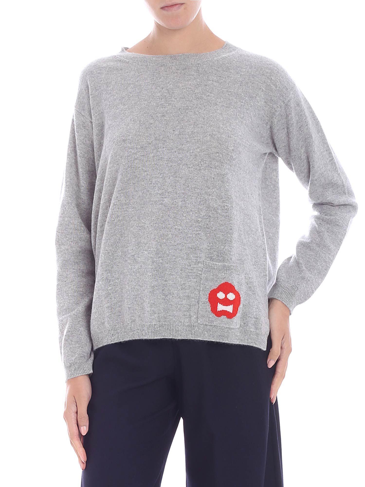3c71e6aa Aspesi Grey Melange Cashmere Pullover in Gray - Lyst
