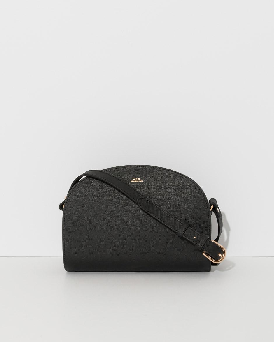 lyst a p c half moon bag in black. Black Bedroom Furniture Sets. Home Design Ideas