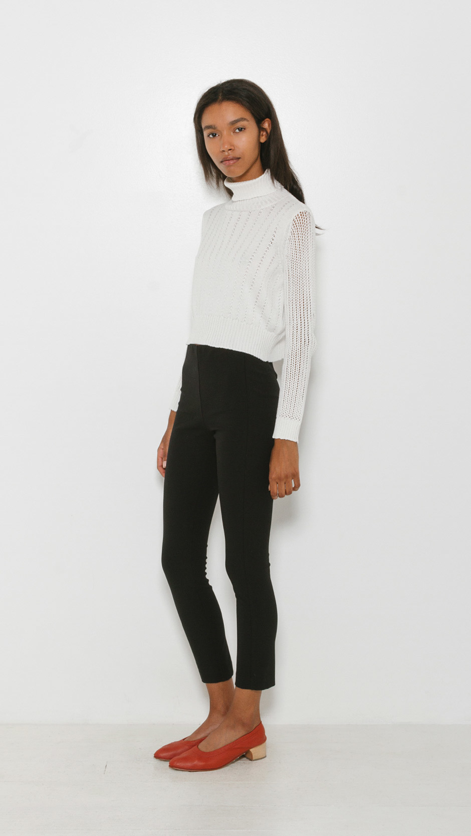 Lyst Rachel Comey Cropped Turtleneck In White