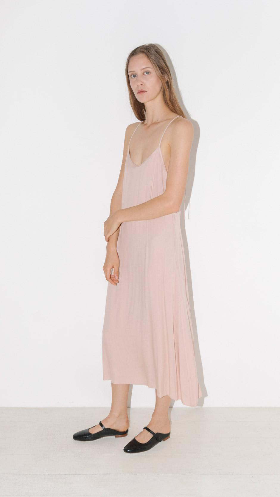d27ae44a3876 Lyst - Jesse Kamm The Slip Dress in Pink