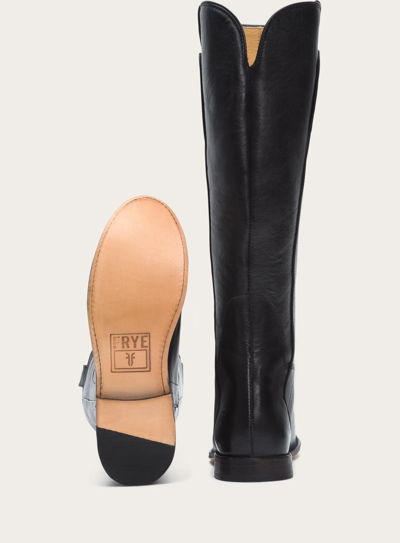 Frye Paige Tall Riding in Black