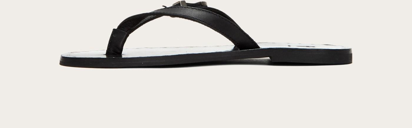 9fb157662cc844 Lyst - Frye Ally Western Flip Flop in Black