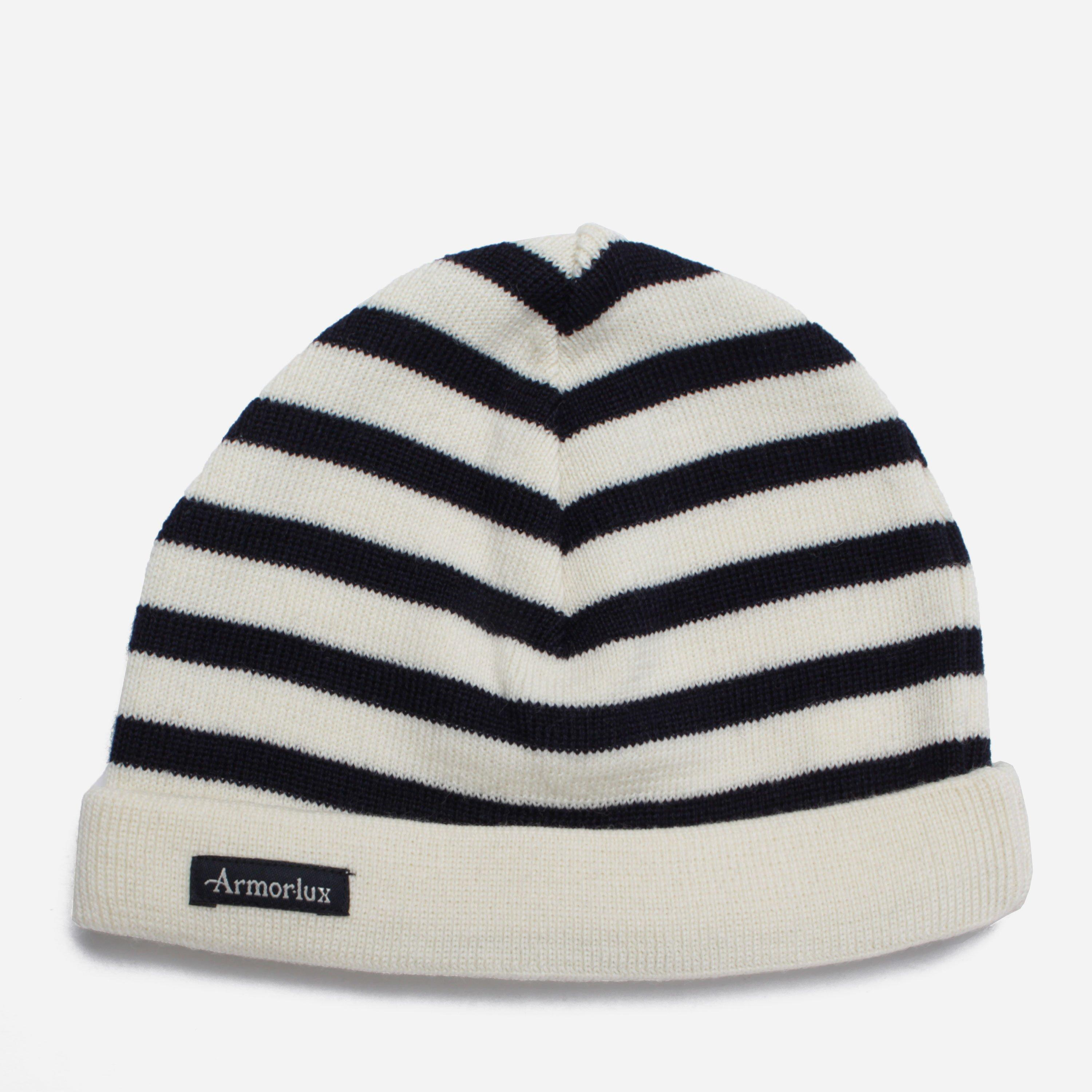 9347eb3a Armor Lux Striped Beanie in White for Men - Lyst