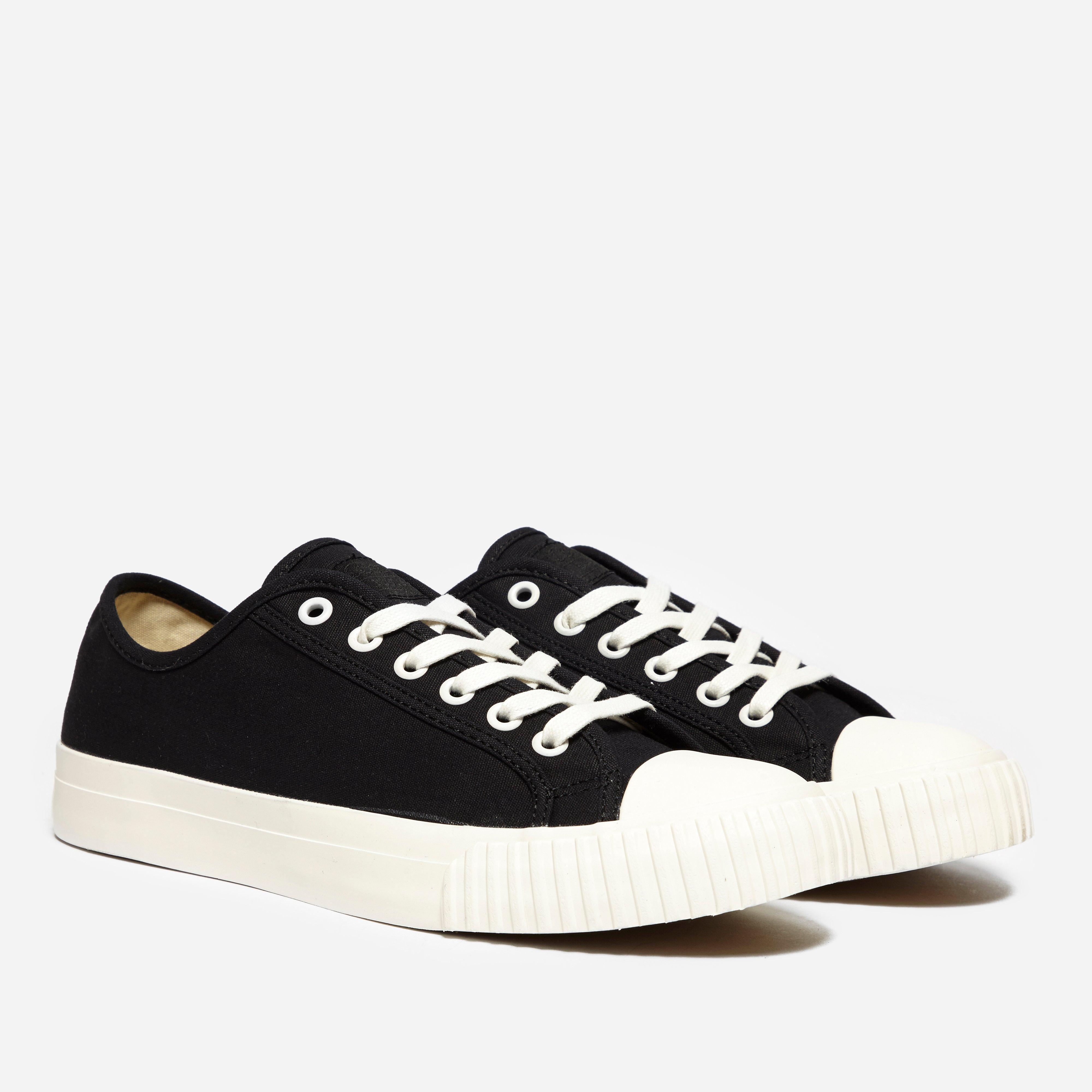 bata bullet lo top canvas in black for lyst