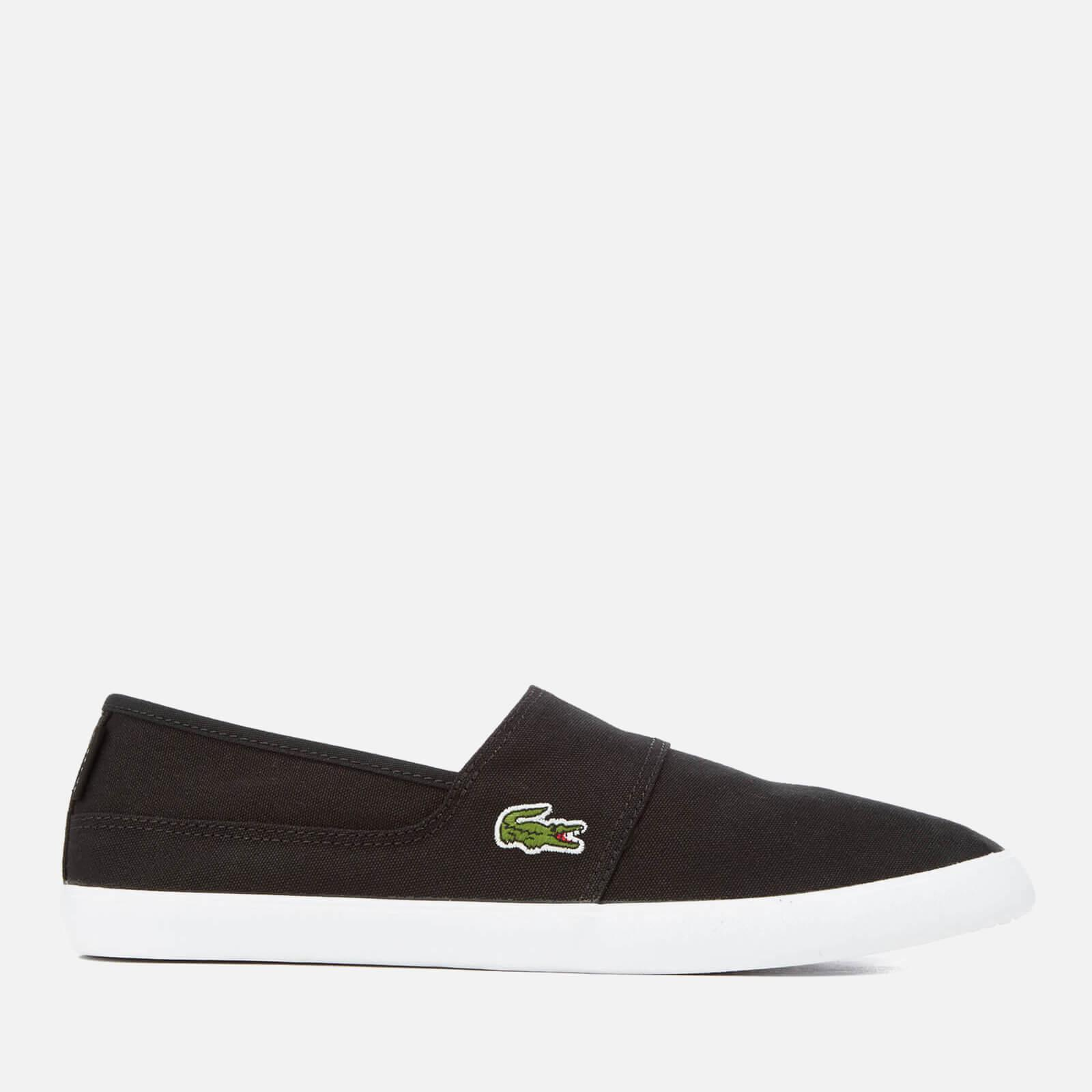 2a5d7a72da196 Lyst - Lacoste Marice Canvas Slip-on Pumps in Black for Men