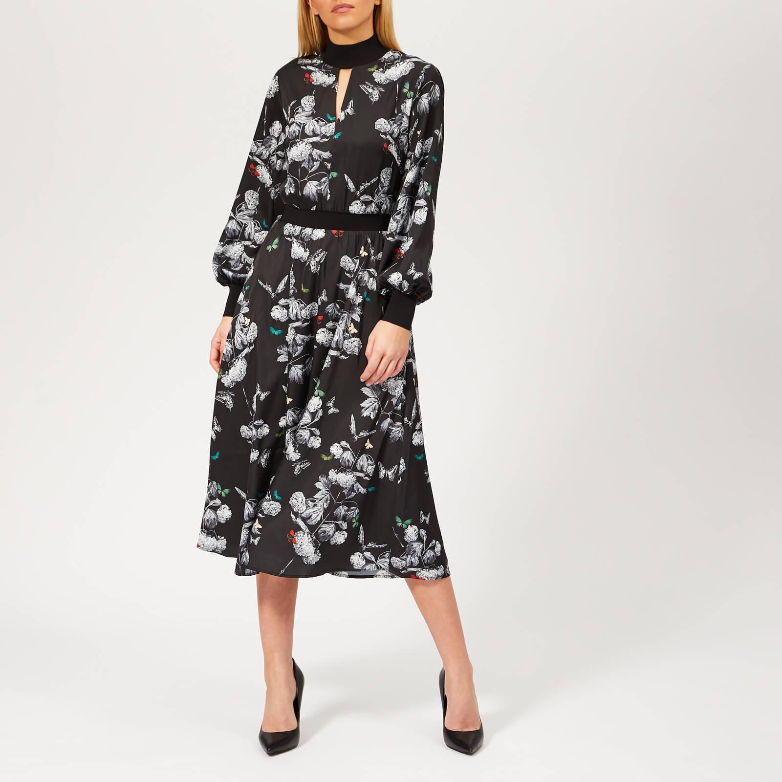 7a9d888b Ted Baker Eynah Narrnia Midi Dress in Black - Lyst