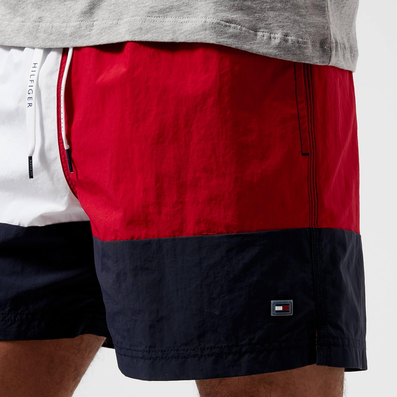 9fe63a6be5 Tommy Hilfiger Flag Red And Navy Swim Shorts - Mens S for Men - Lyst