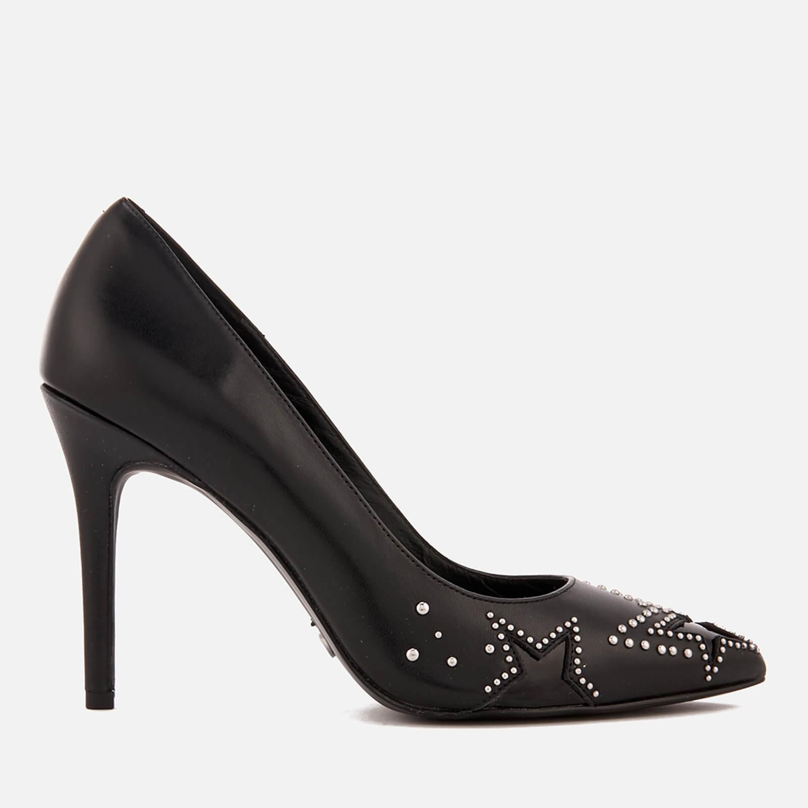 77acc1078319 Lyst - MICHAEL Michael Kors Sia Leather Court Shoes in Black