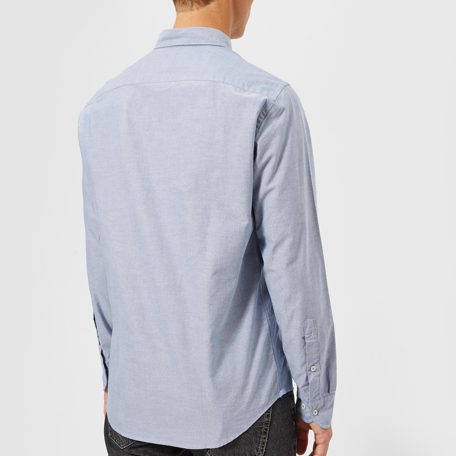 0638177d1f84 Tommy Hilfiger - Blue Engineered Oxford Long Sleeve Shirt for Men - Lyst.  View fullscreen
