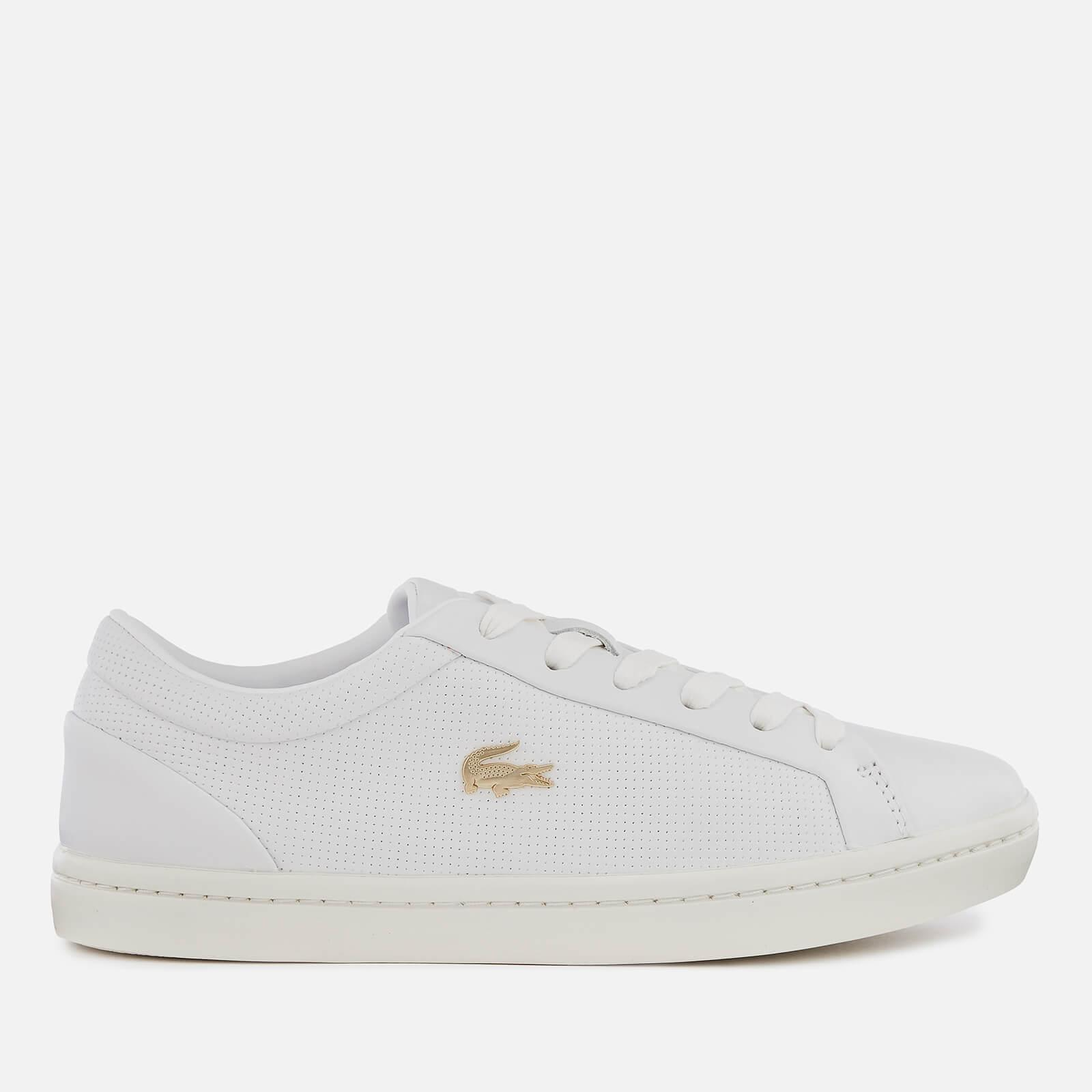 9dcb41374 Lacoste Straightset 119 2 Leather Cupsole Trainers in White - Lyst