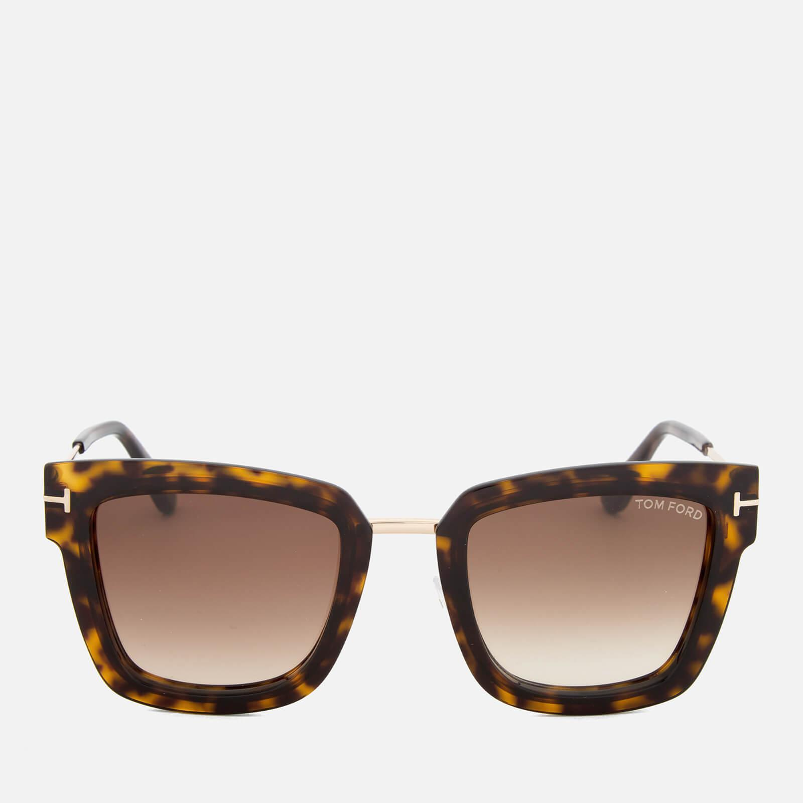 338e97551ab95 Lyst - Tom Ford Lara Square Frame Sunglasses in Brown