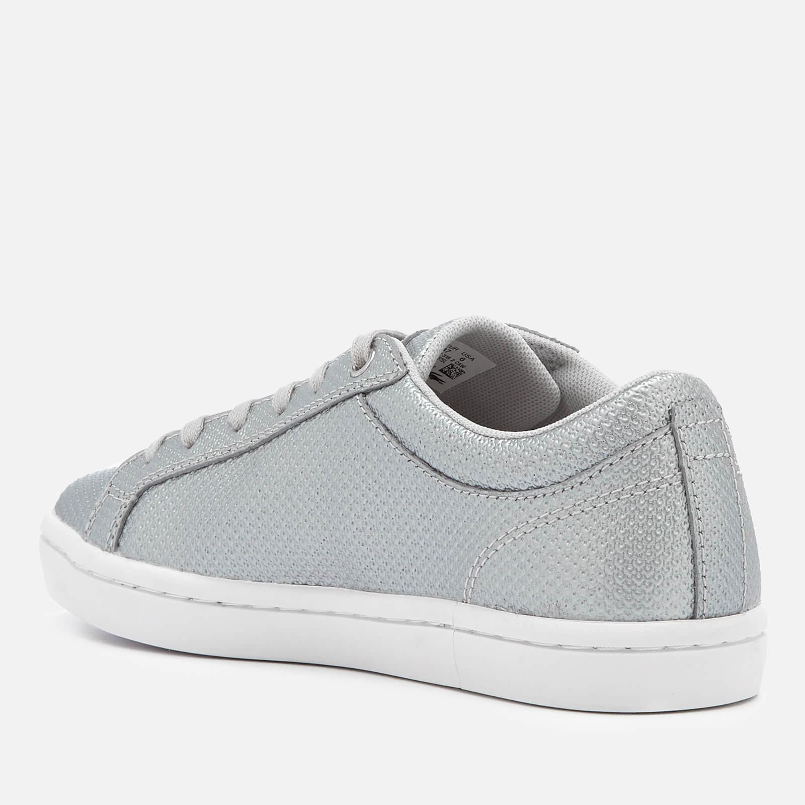 Lacoste - Metallic Women s Straightset 318 2 Embossed Leather Trainers -  Lyst. View fullscreen 0f2f488dbc