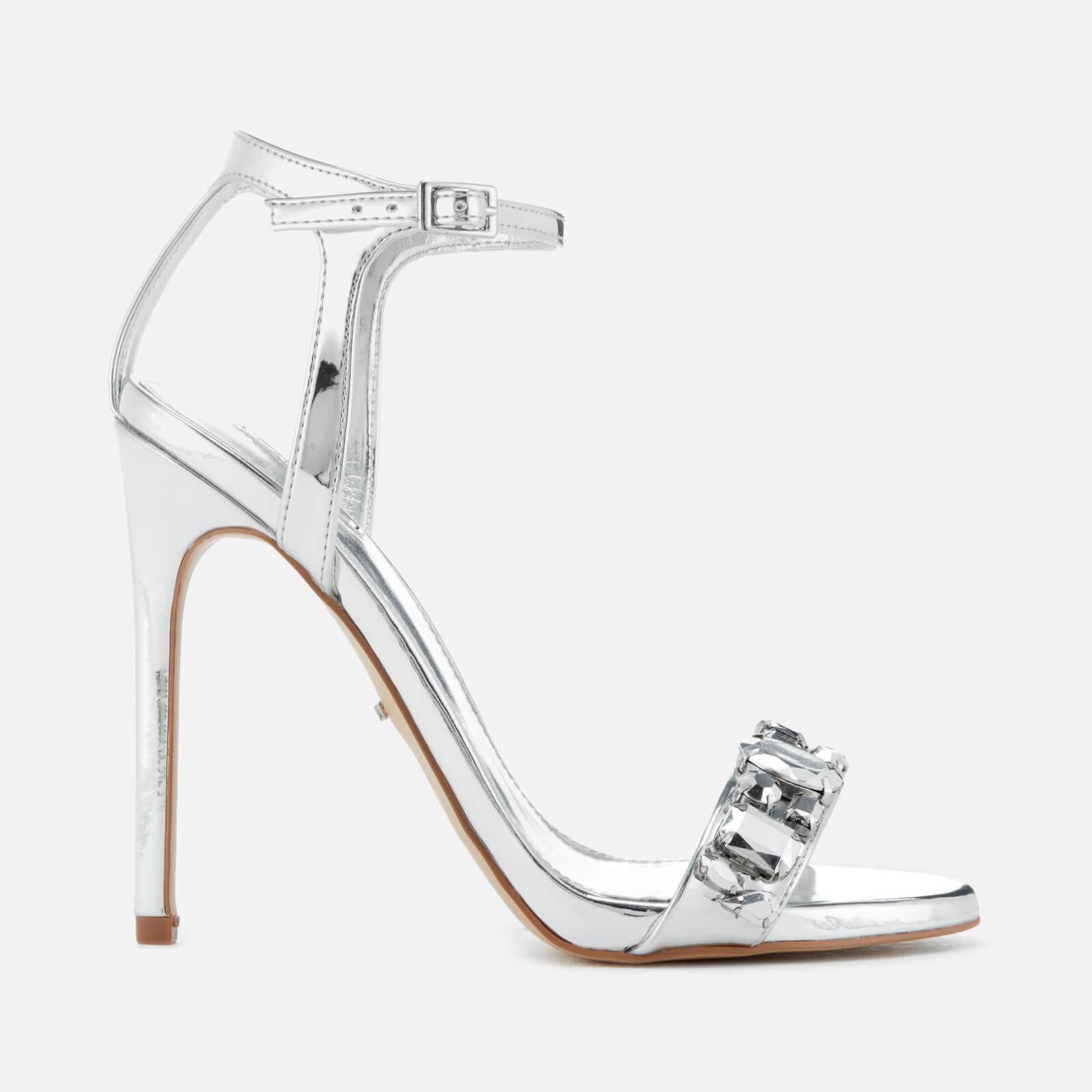 da10f337392c Carvela Kurt Geiger Gail Barely There Heeled Sandals in Metallic - Lyst