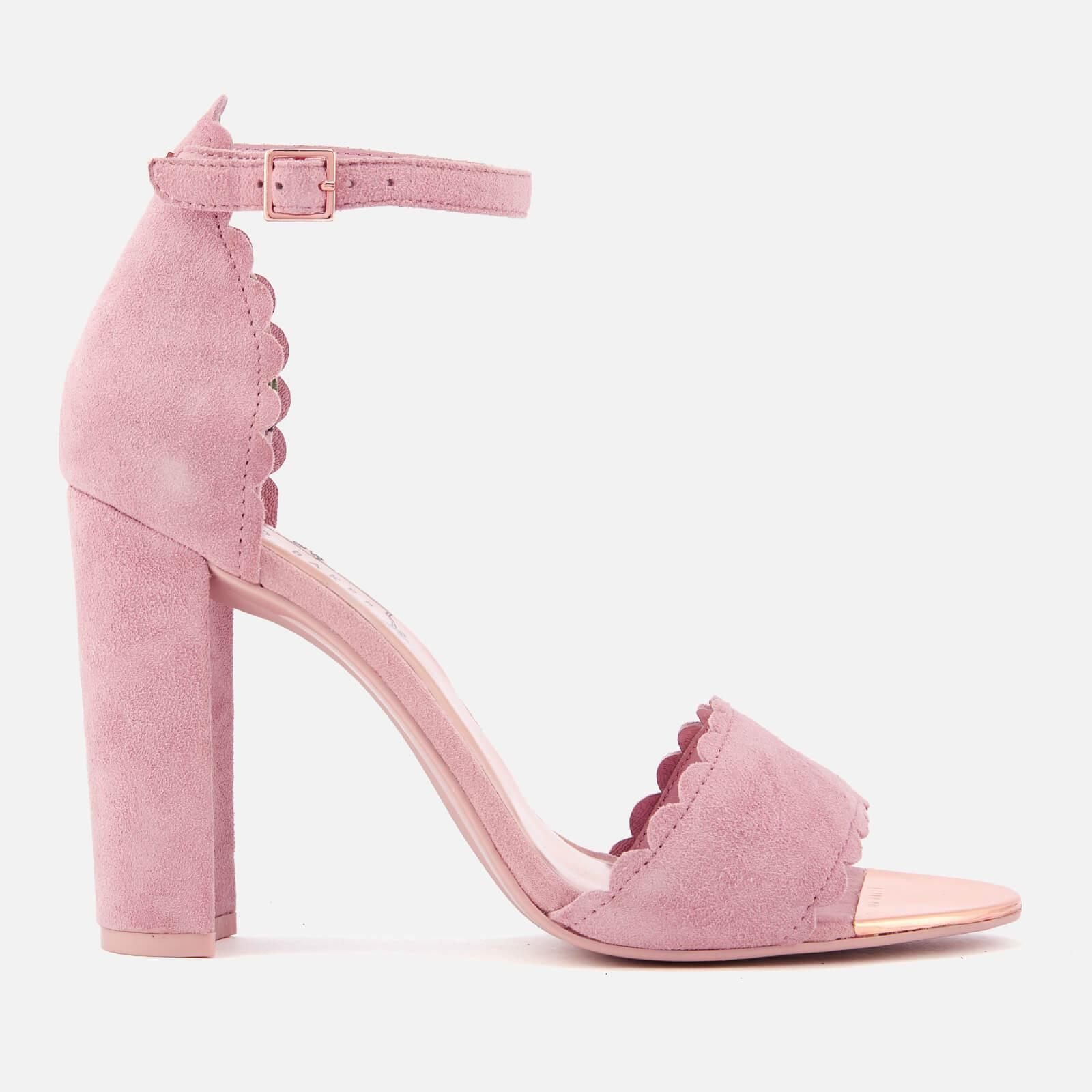 a3ed1ae2e0e60 Ted Baker Pink Raidha Suede Barely There Block Heeled Sandals