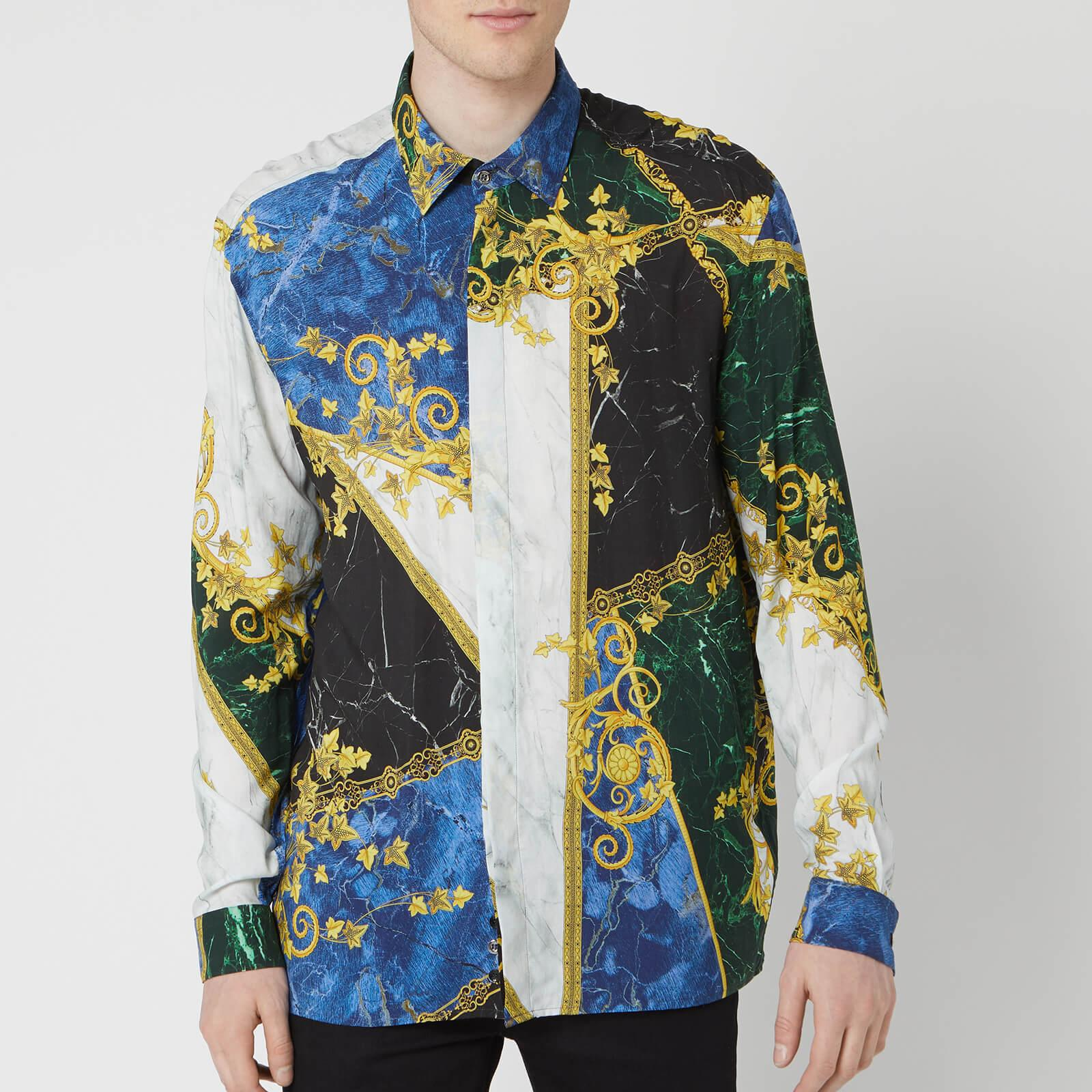 16ae43aff Lyst - Versace Shirt in Blue for Men