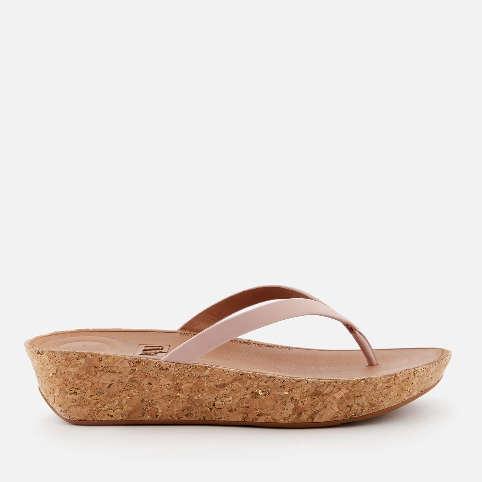 64fa00dfe69a Lyst - Fitflop Linny Wedged Toe Post Sandals in Pink