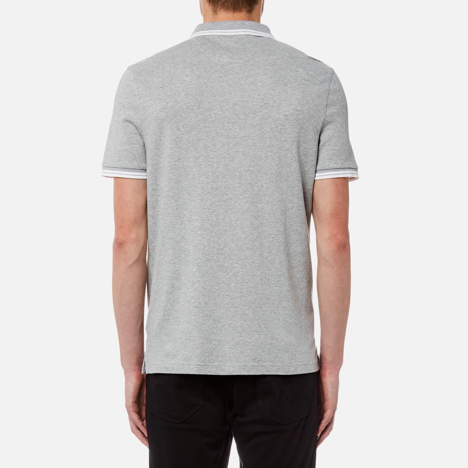 e7126d58 Michael Kors - Gray Greenwich Logo Jacquard Short Sleeve Polo Shirt for Men  - Lyst. View fullscreen