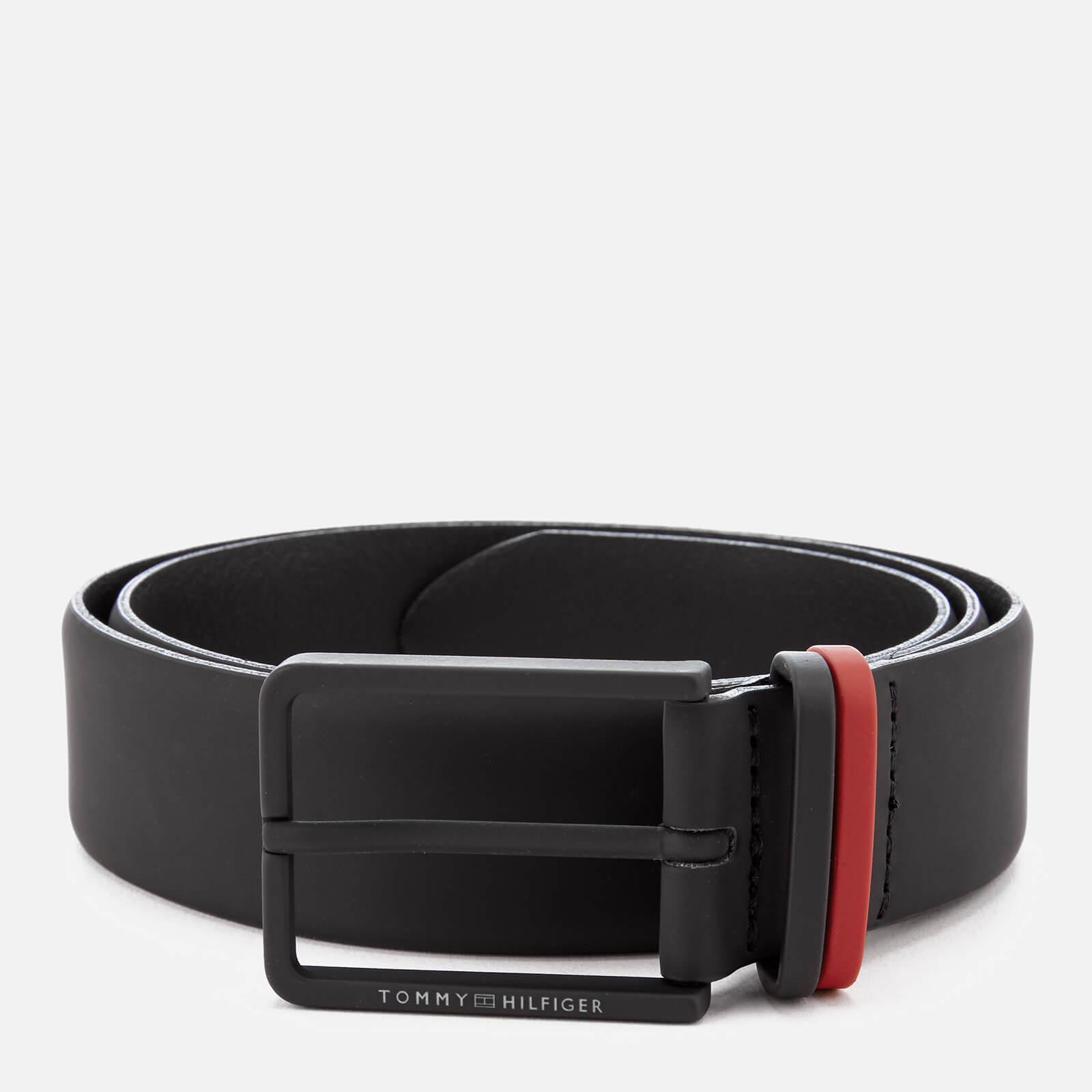 Tommy Hilfiger - Black Rubberised Metal Loop Belt for Men - Lyst. View  fullscreen dc4b787935f