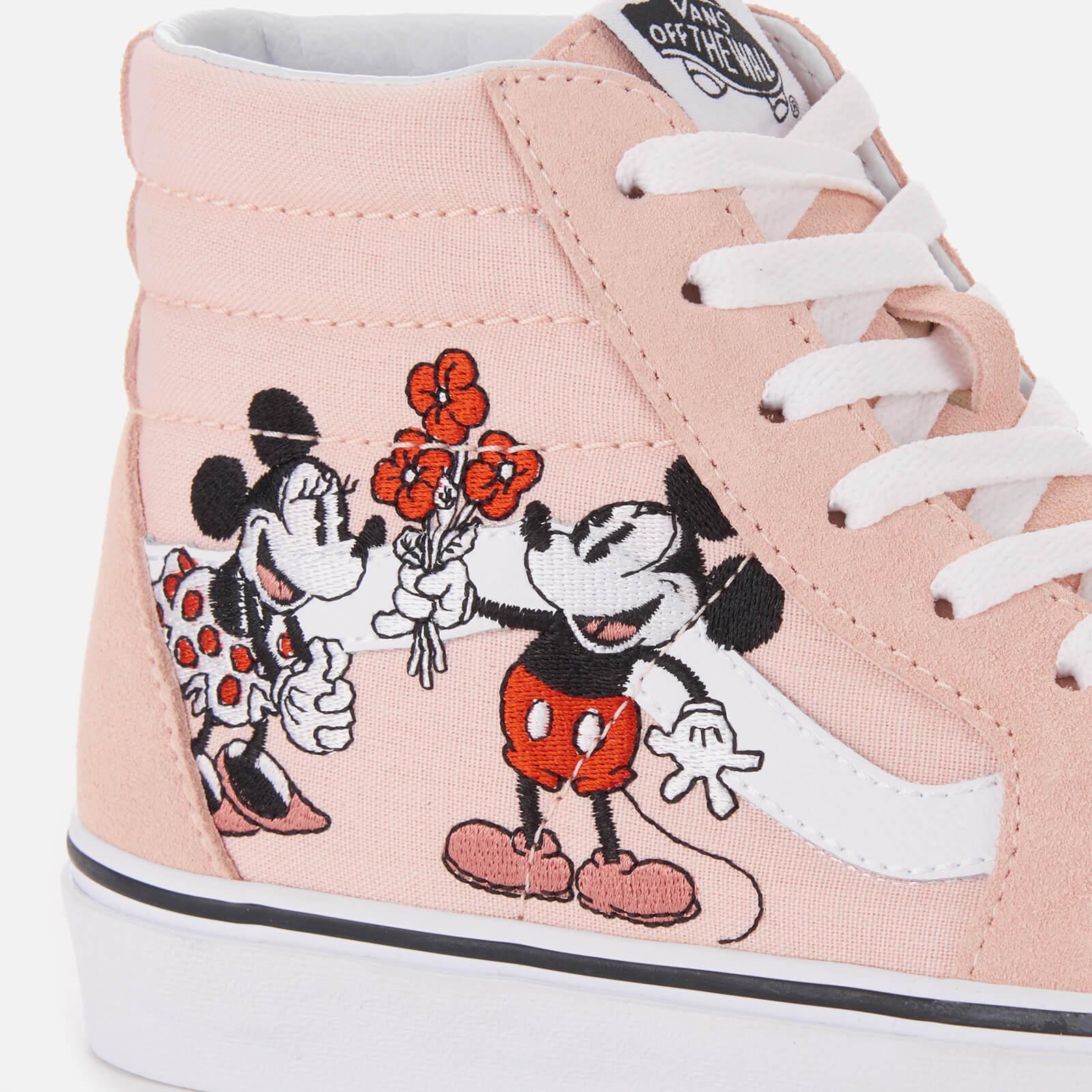 d2083127b Vans Disney Sk8-hi Mickey & Minnie Pink Trainers in Pink - Lyst