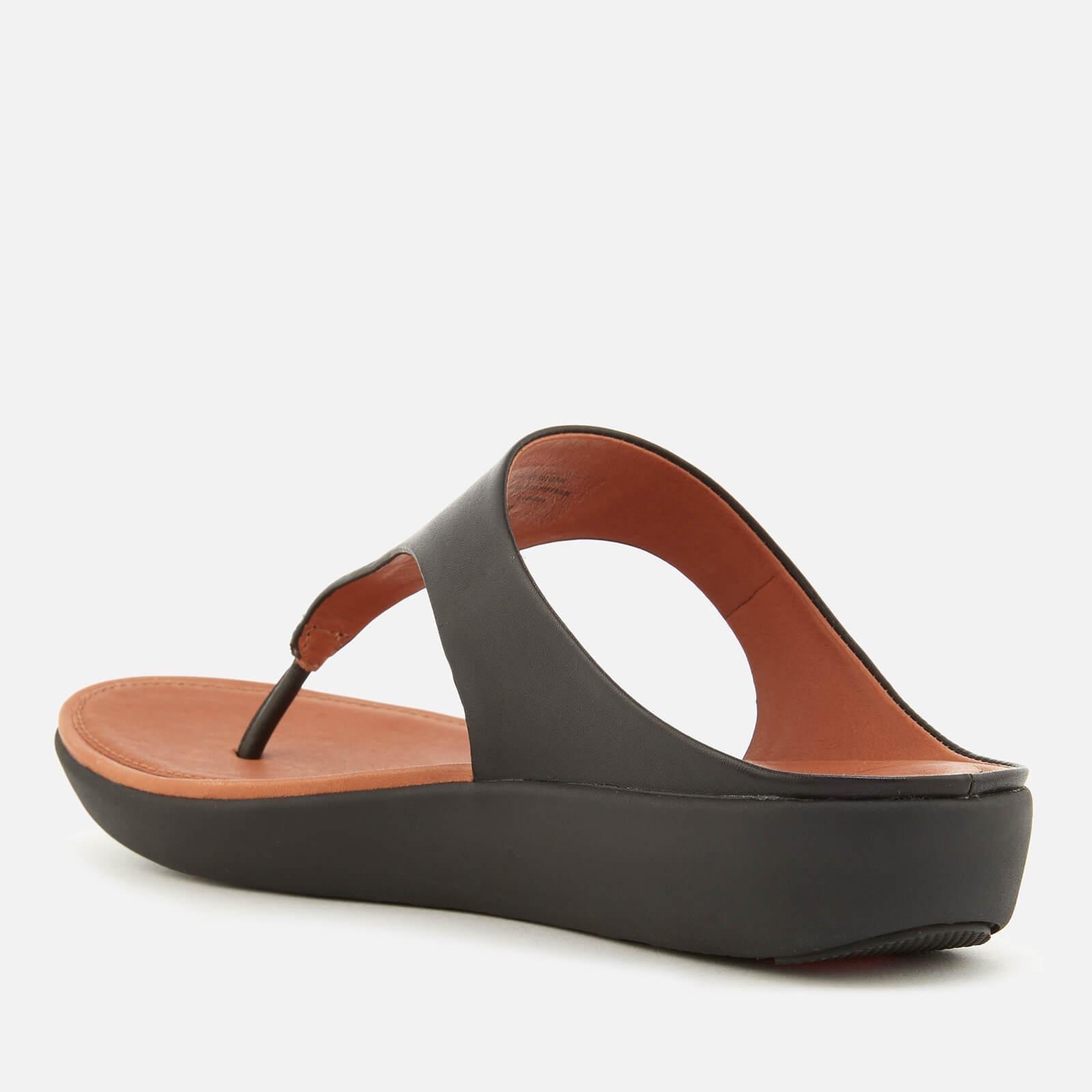 a64855de8c8f3b Fitflop - Black Banda Ii Leather Toe Post Sandals - Lyst. View fullscreen