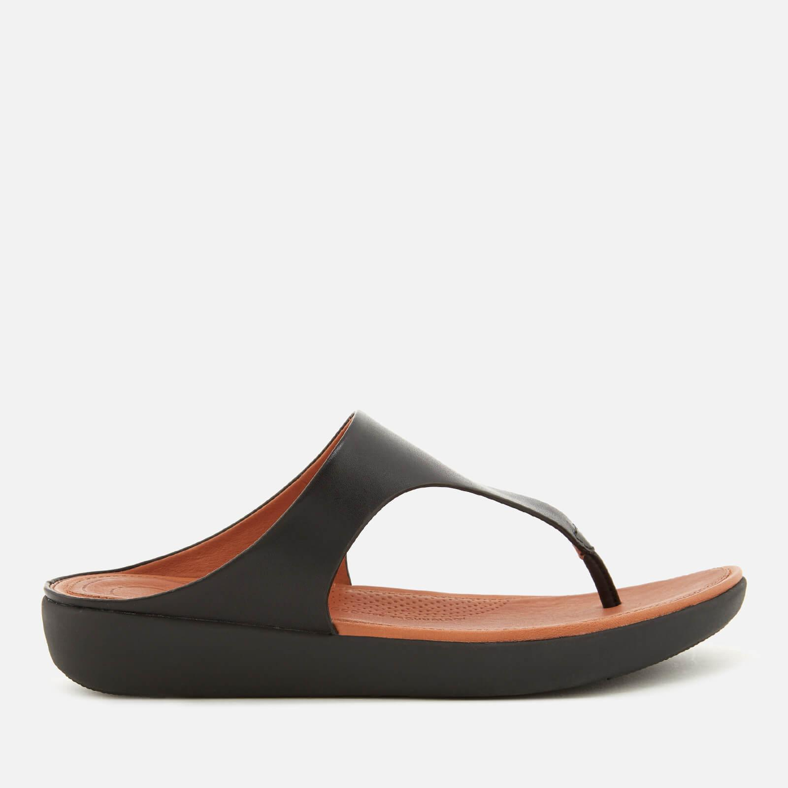 c53e5fbdff32f1 Lyst - Fitflop Banda Ii Leather Toe Post Sandals in Black