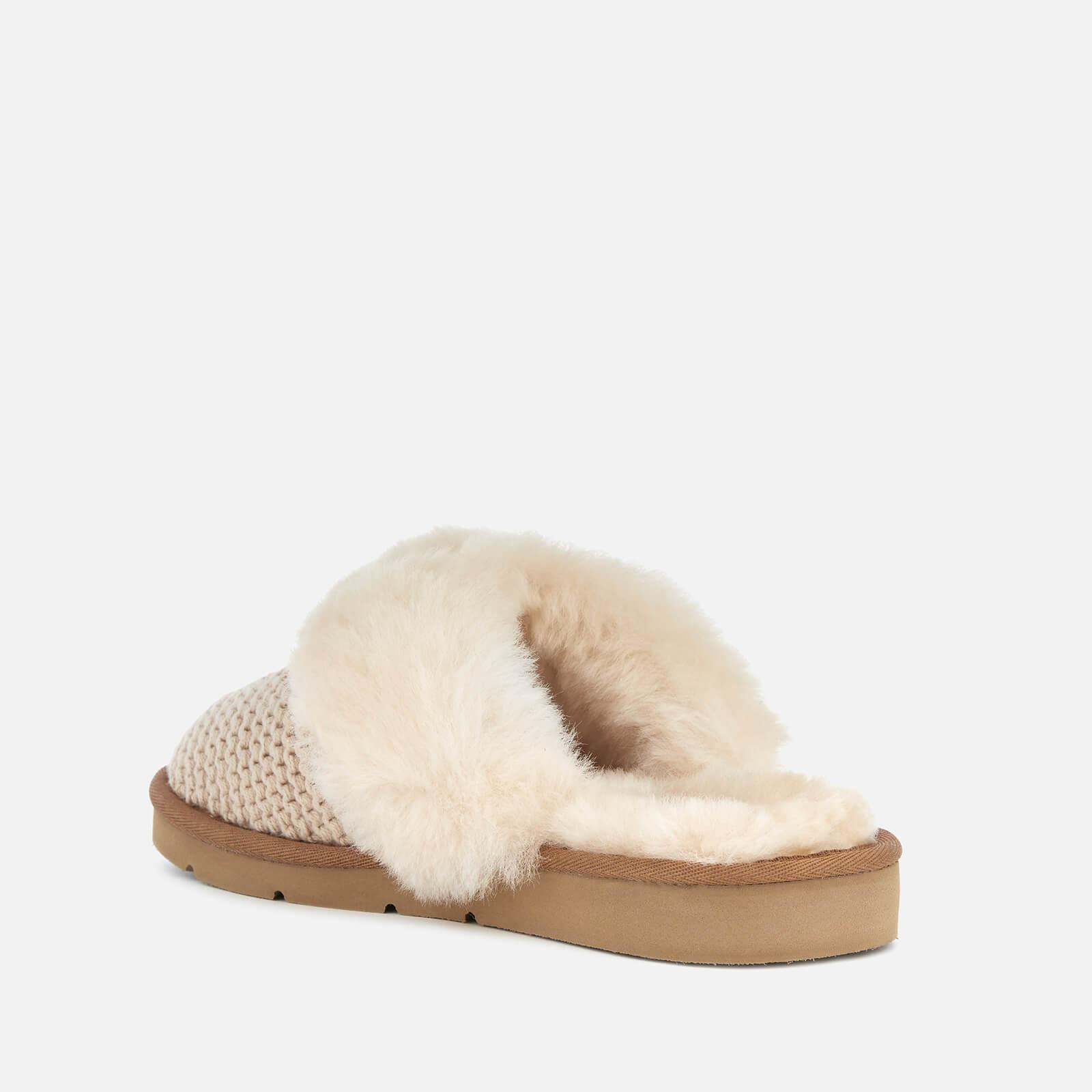 0884cbb51d9 UGG Cozy Knit Slippers in Natural - Lyst