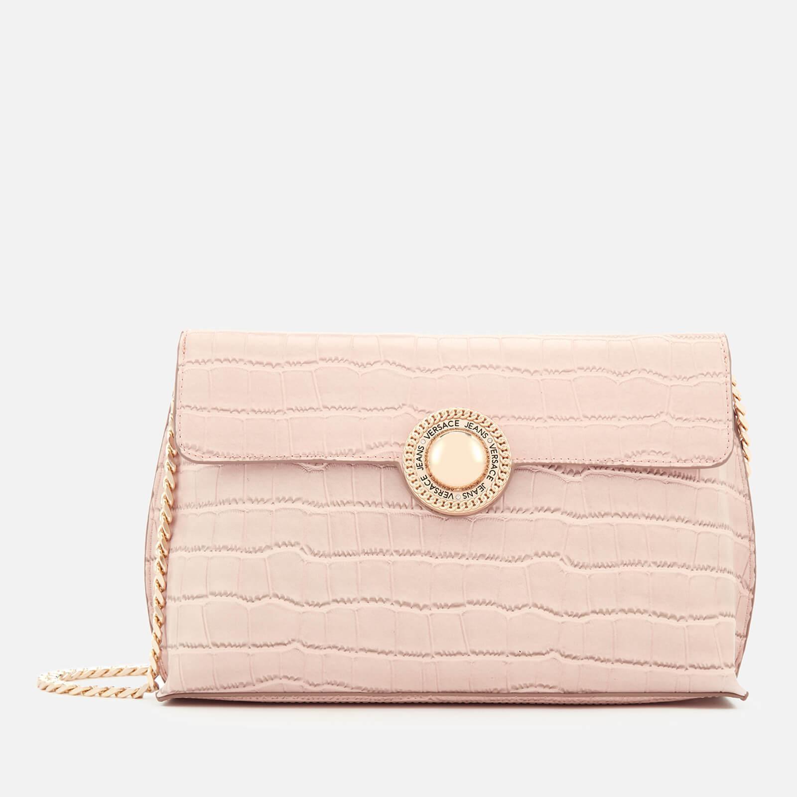 Lyst - Versace Jeans Croc Print Shoulder Bag in Pink 4c2d1beb7785d