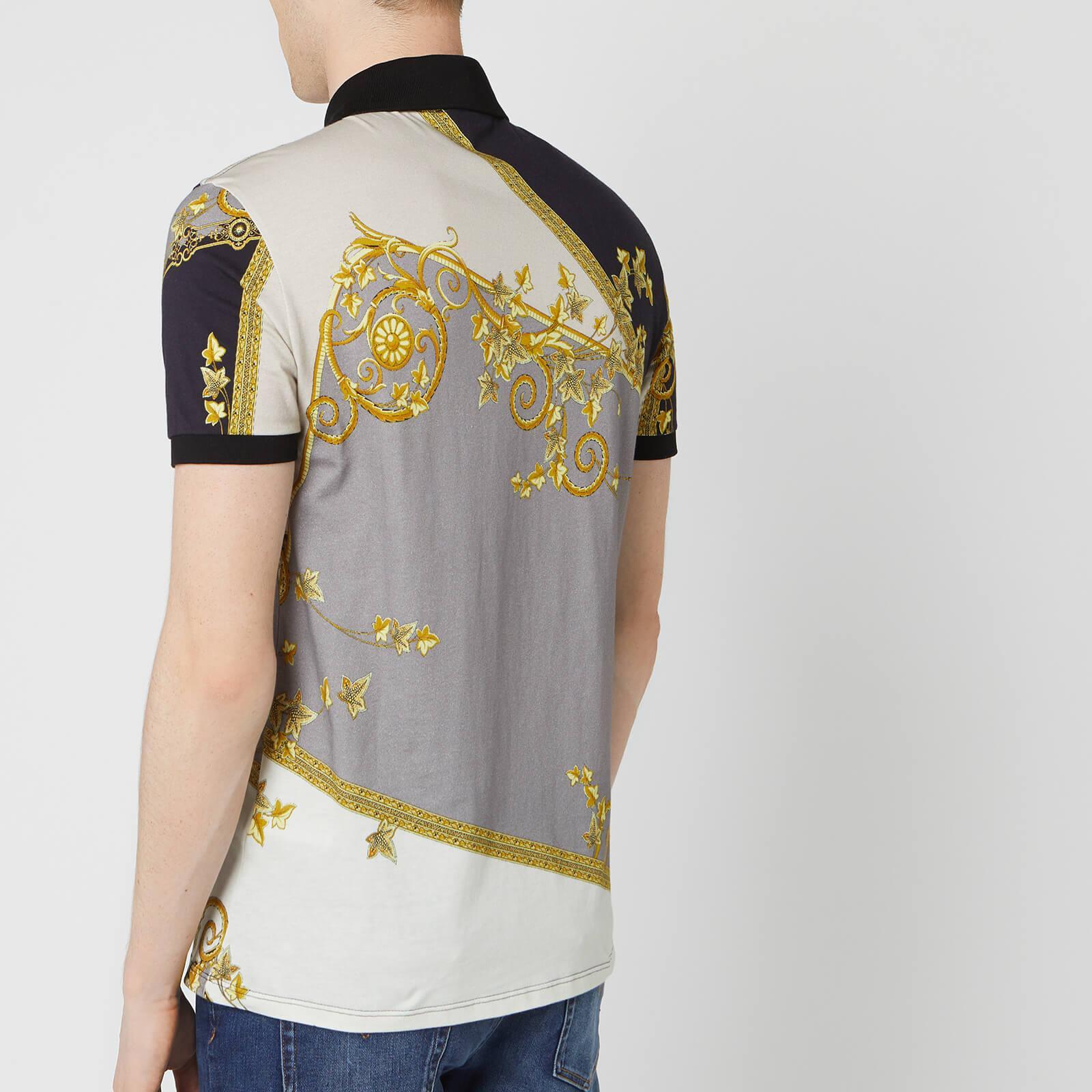 6b7e7b13b Lyst - Versace All Over Print Polo Shirt for Men