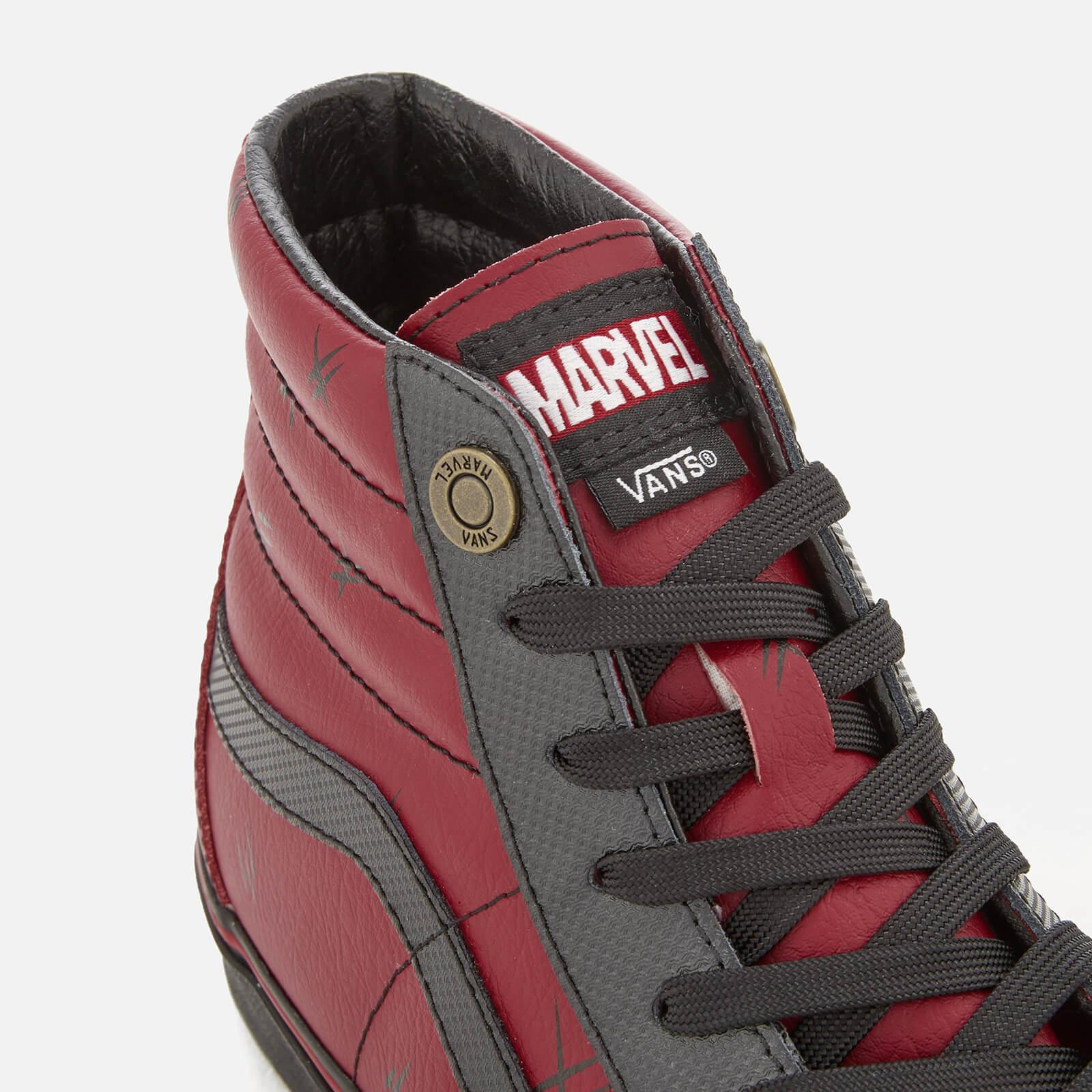 a690b6f9193 Lyst - Vans Marvel Deadpool Sk8 Hi-top Trainers in Red for Men