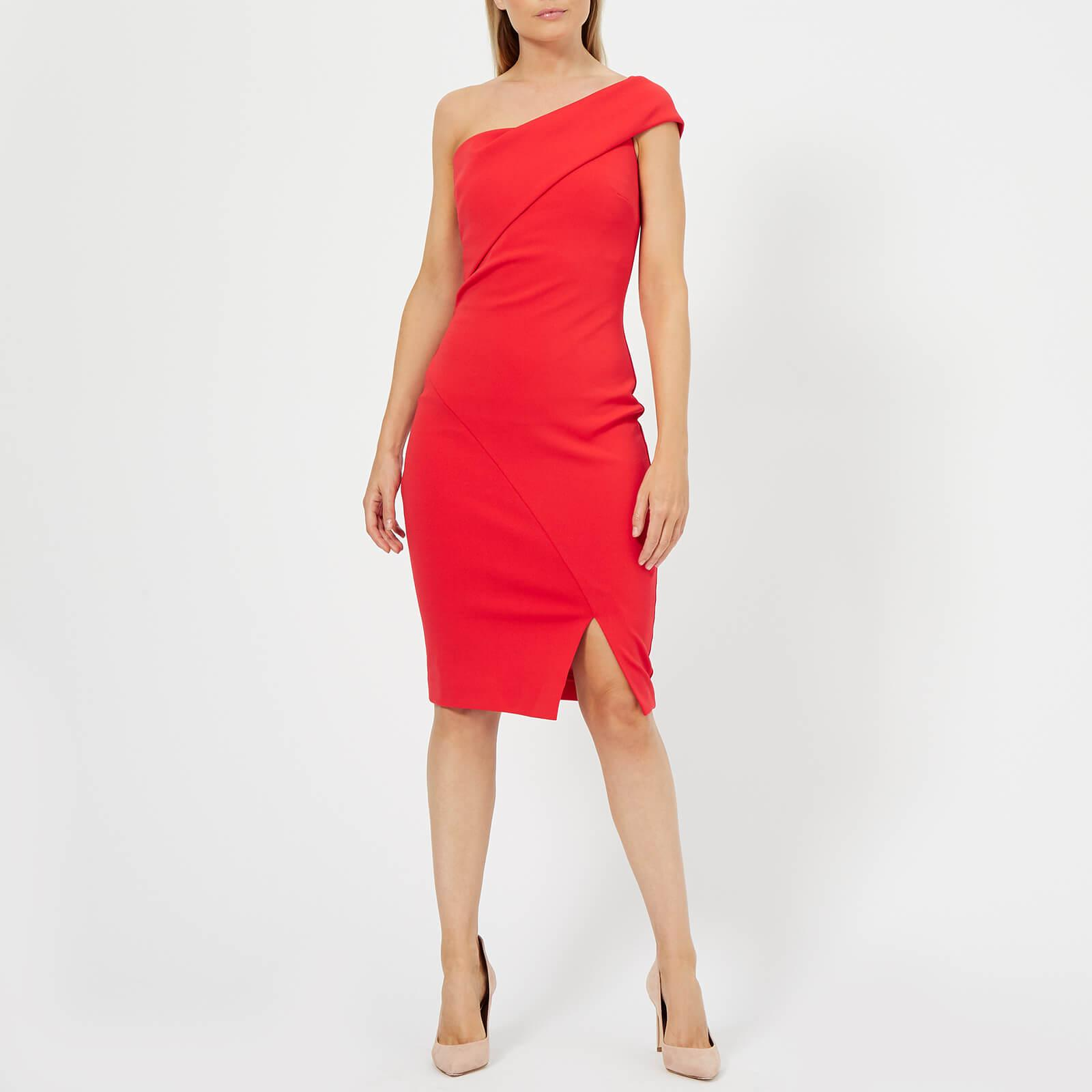 6e75a71de527e3 Lyst - Ted Baker Areena One Sleeve Bardot Dress in Red