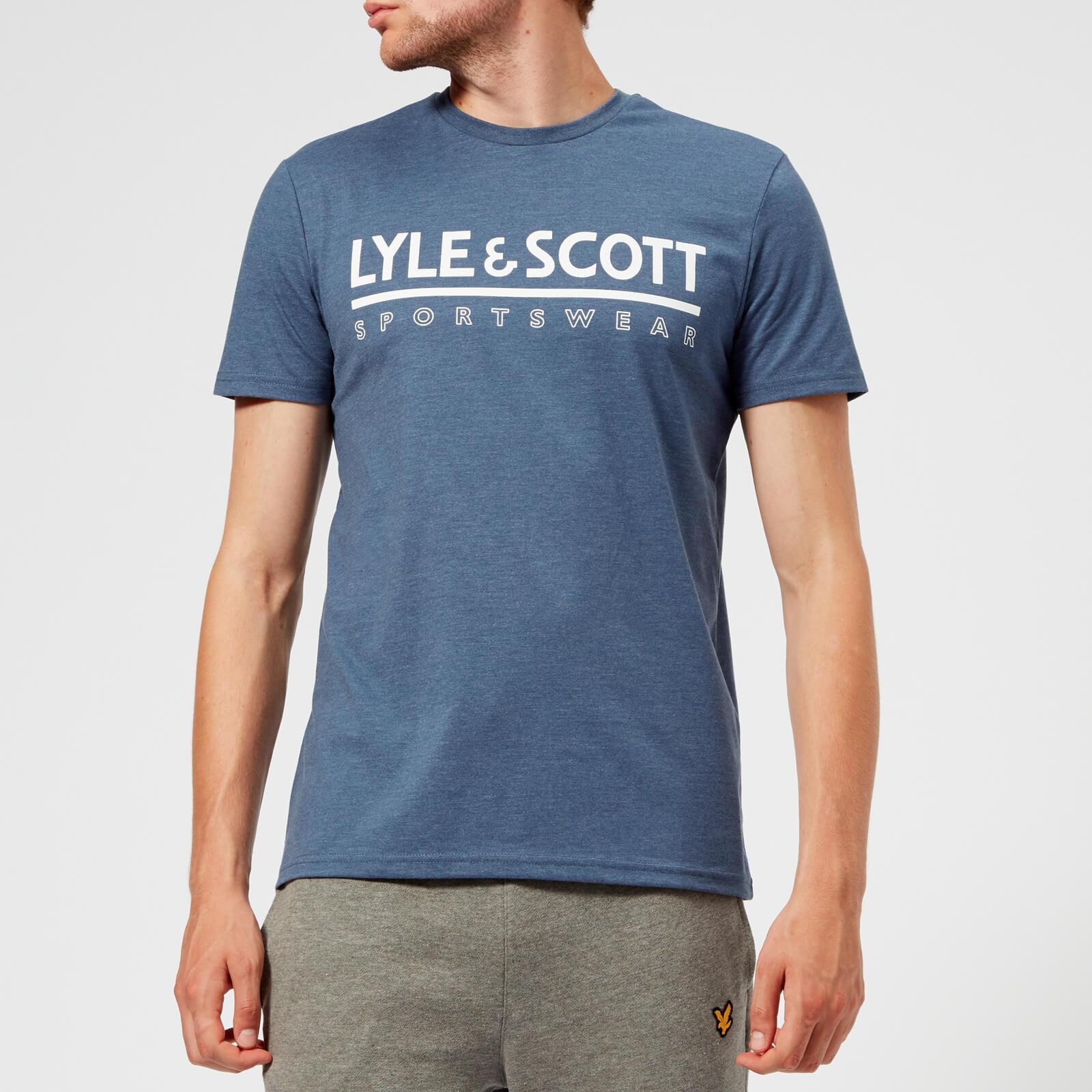 2812cdb75 Lyle & Scott Harridge Short Sleeve Large Logo T-shirt in Blue for ...