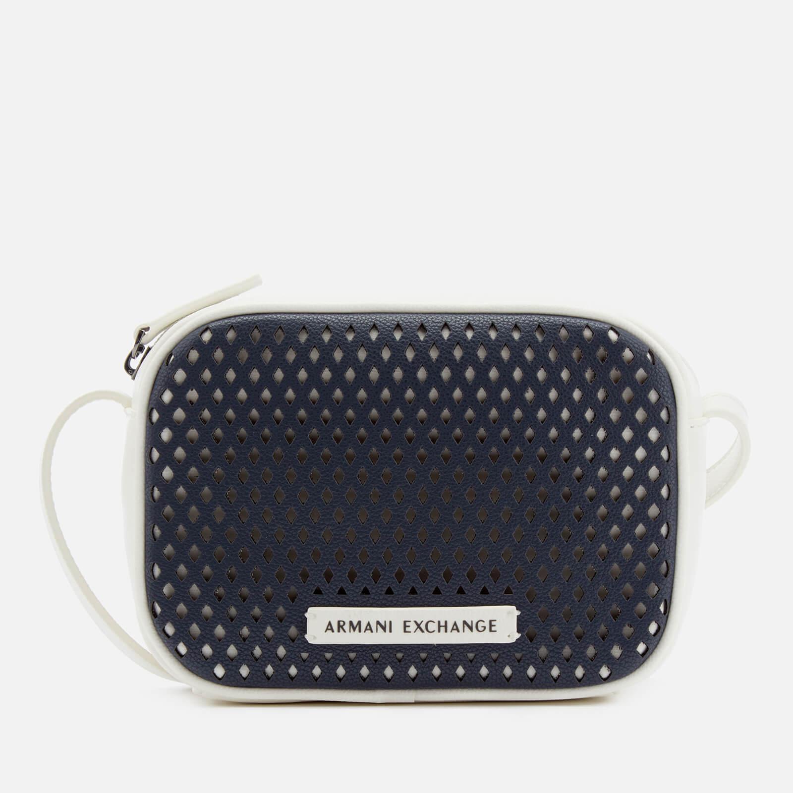 Armani Exchange - Blue Perforated Cross Body Bag - Lyst. View fullscreen 7f61270ec2