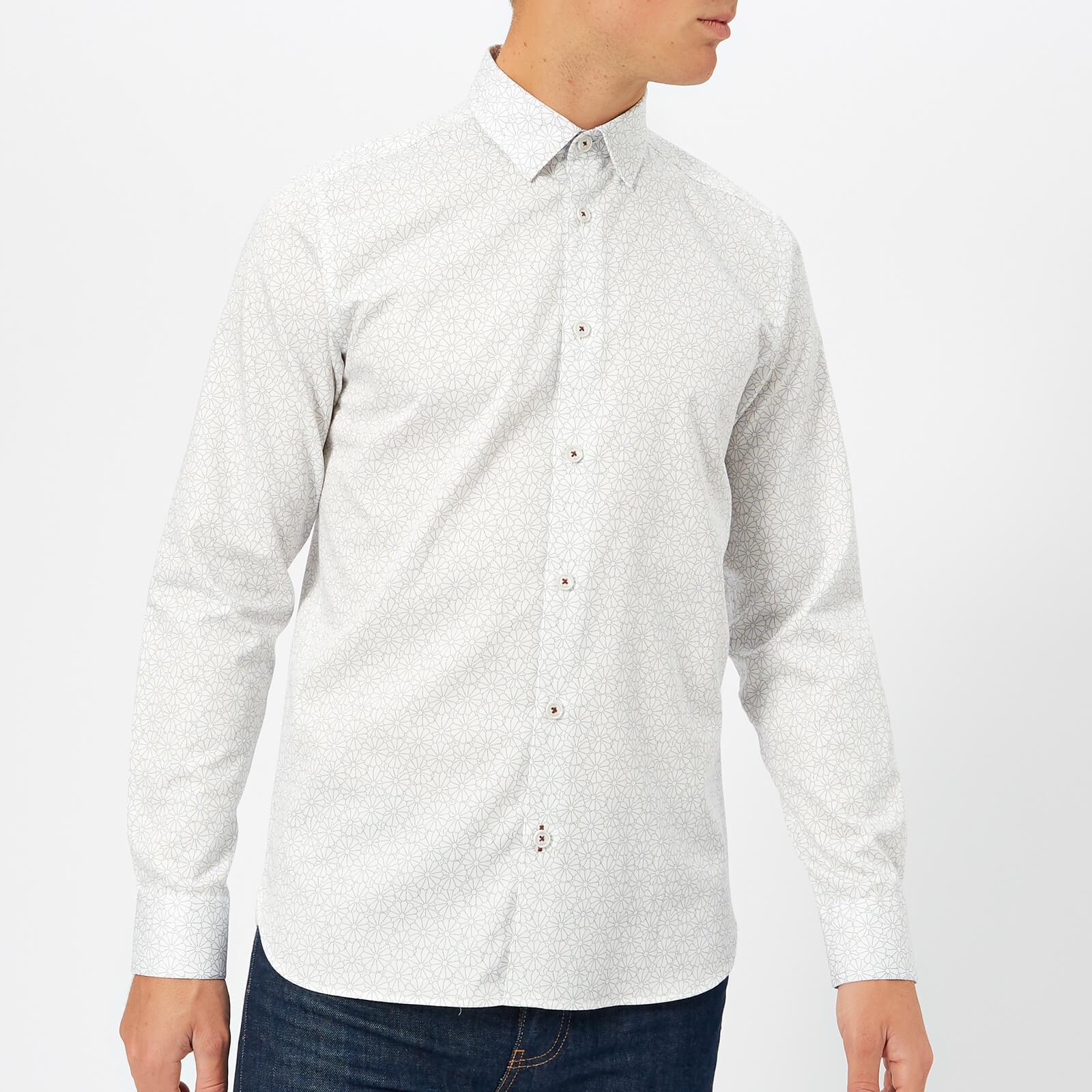 da2d511e5c4ab0 Lyst - Ted Baker Finsbur Floral Geo Printed Shirt in White for Men