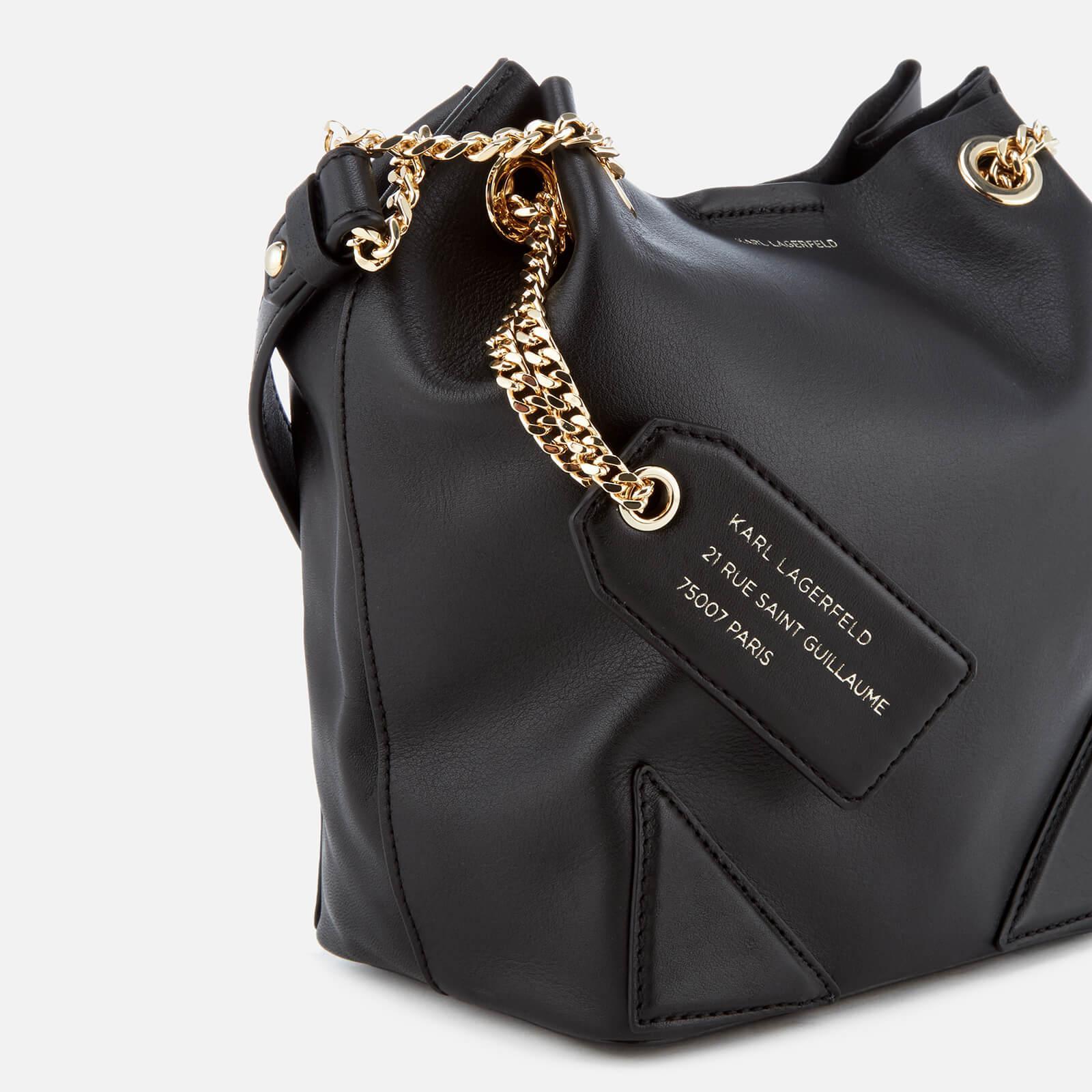 dd9026f32a Karl Lagerfeld K slouchy Small Drawstring Bag in Black - Lyst