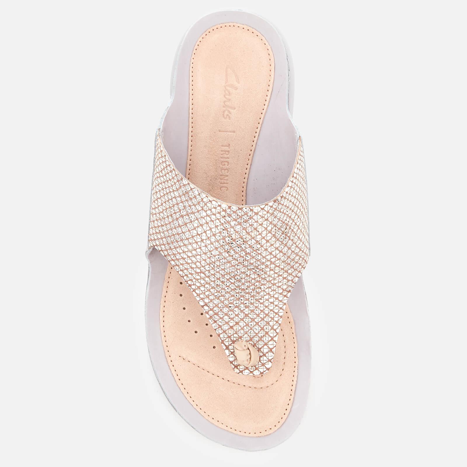 1c676fc2d4c7 Lyst - Clarks Tri Carmen Toe Post Sandals in Metallic