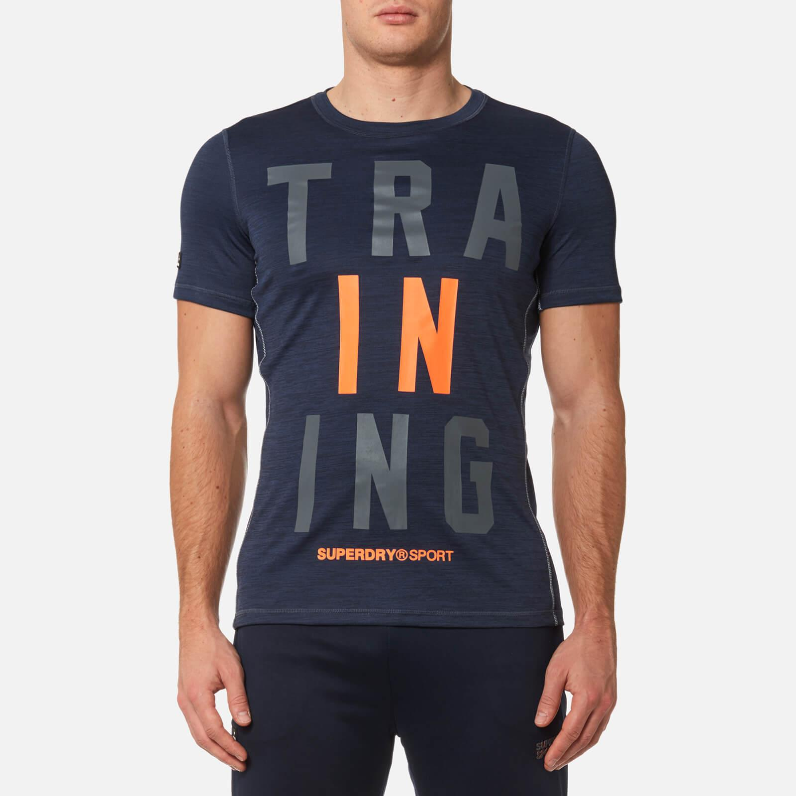 61b7a342f Superdry Sport Active Training Graphic T-shirt in Blue for Men - Lyst