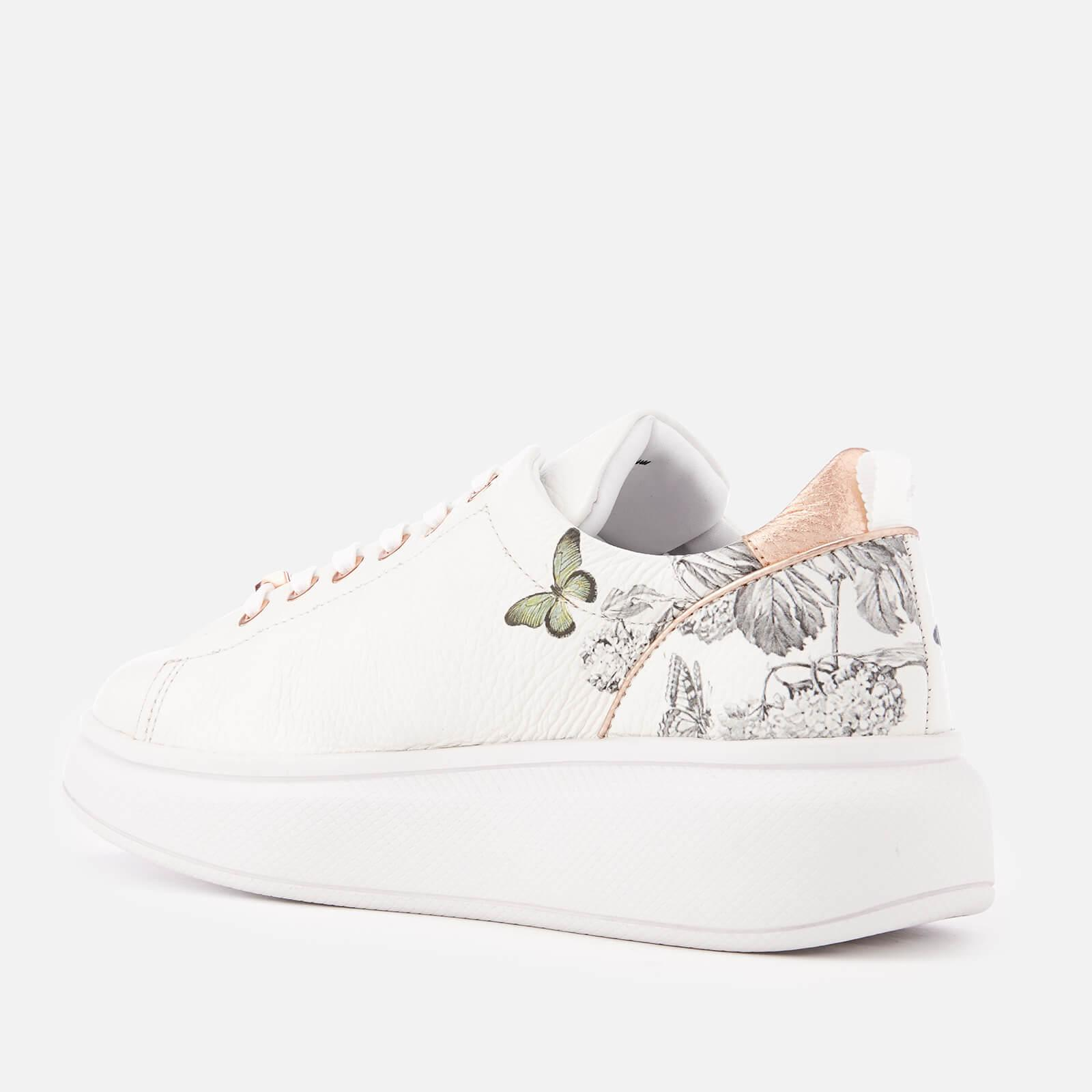 1a29d87b0f2 Lyst - Ted Baker Ailbe 3 Leather Flatform Trainers in White