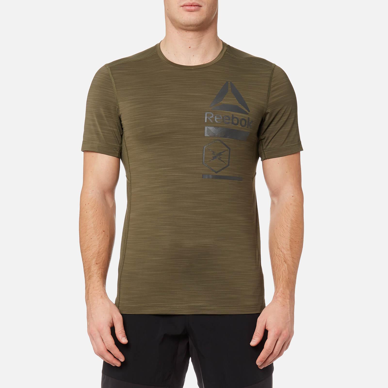 332164725d7e Reebok - Green Activchill Zoned Graphic Short Sleeve T-shirt for Men -  Lyst. View fullscreen