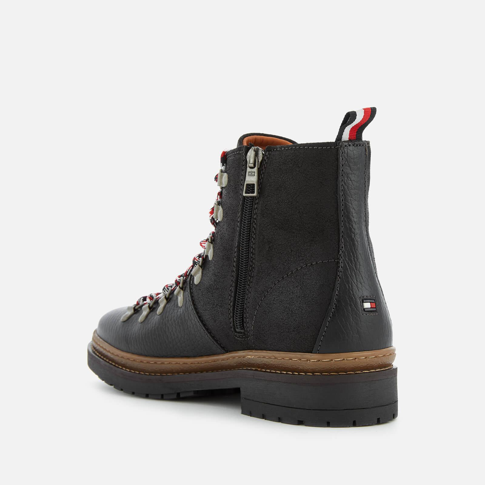 843e8a3e2160d Tommy Hilfiger - Black Elevated Outdoor Leather Hiking Boots for Men -  Lyst. View fullscreen