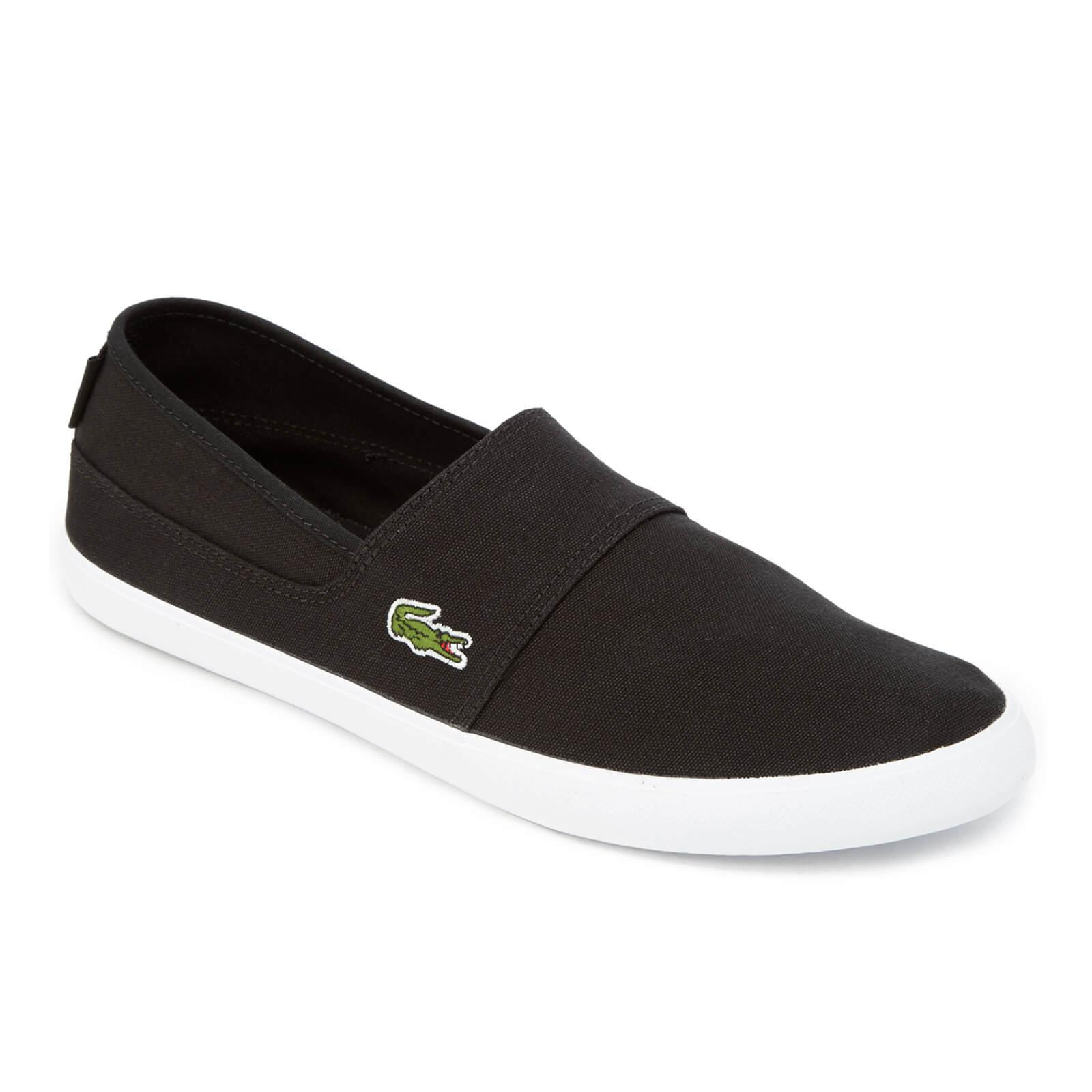 b93ec548c33d Lacoste - Black Marice Canvas Slip-on Pumps for Men - Lyst. View fullscreen