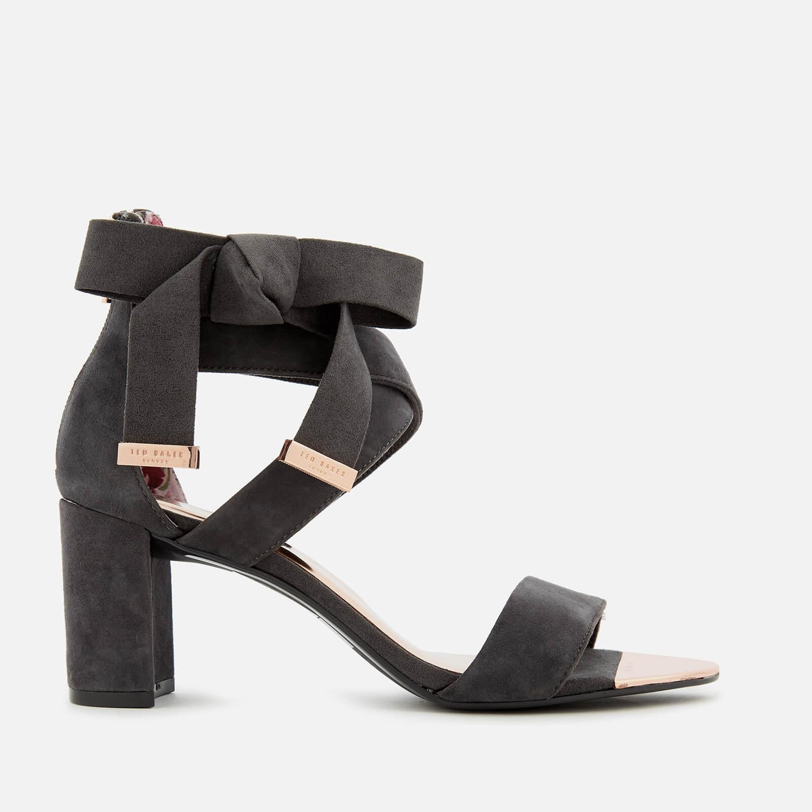 80d0f64c670f9 Lyst - Ted Baker Noxen 2 Suede Block Heeled Sandals in Gray