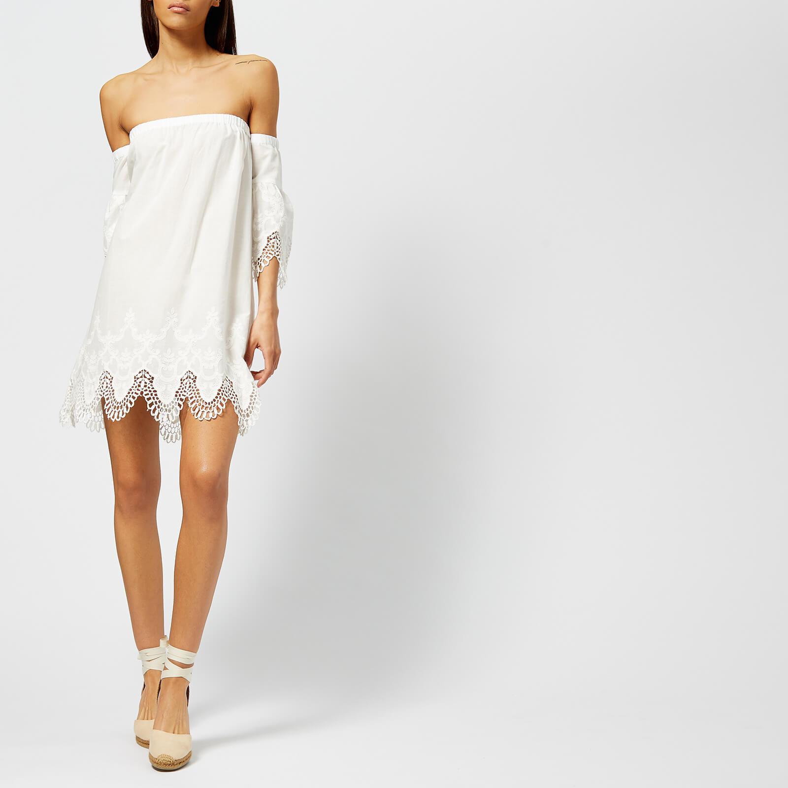 2295d47128c MINKPINK Charlotte Broderie Off The Shoulder Dress in White - Lyst