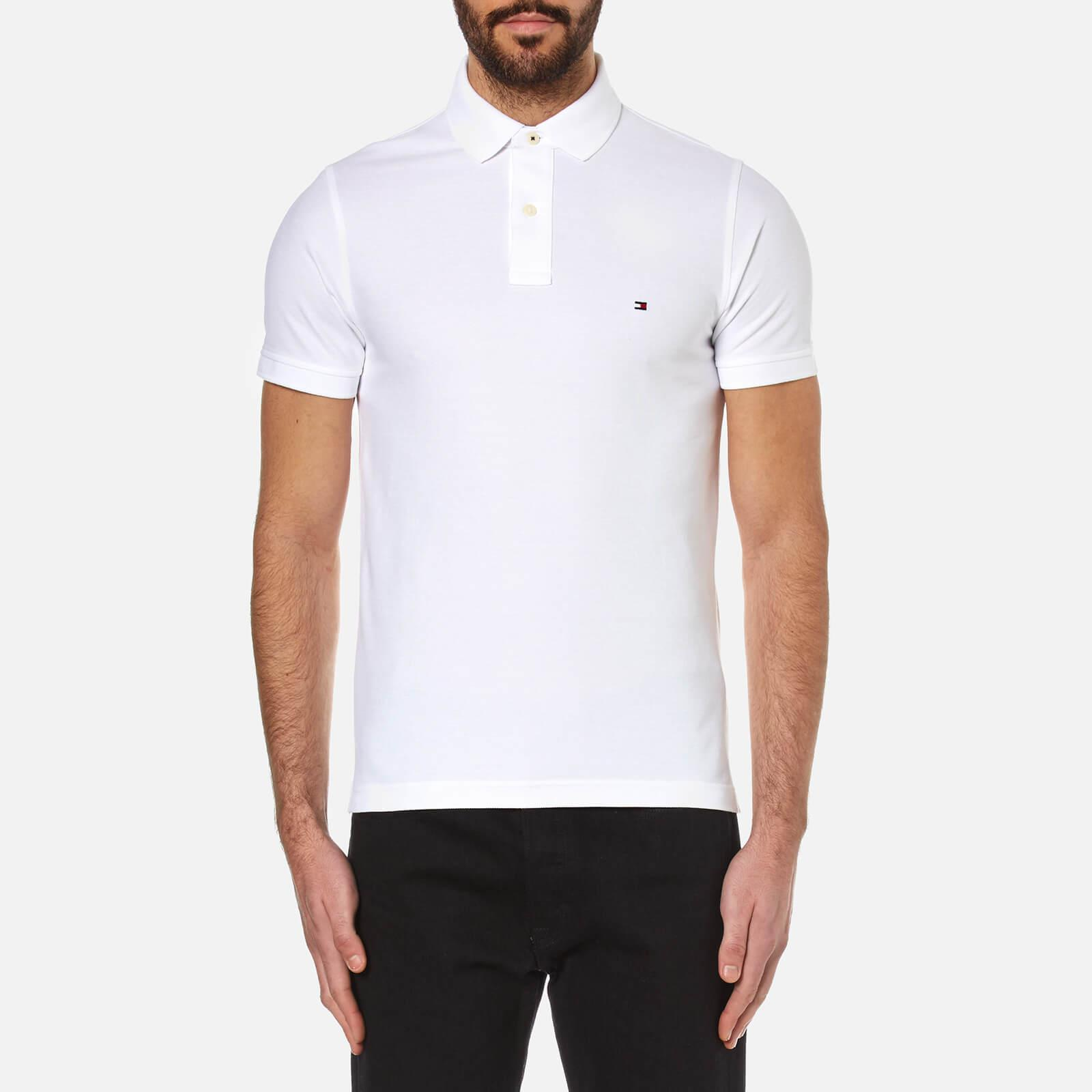 11857b187090 Tommy Hilfiger White Slim Fit Polo Shirt in White for Men - Lyst