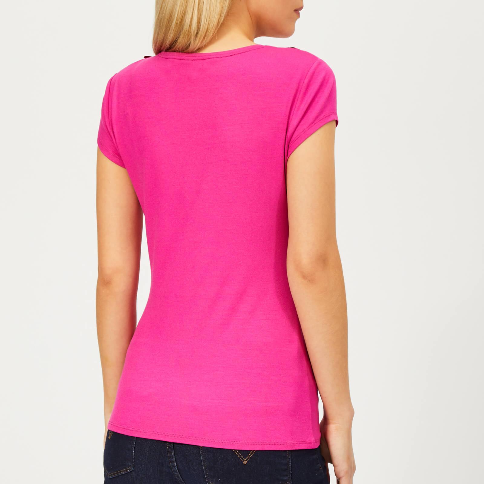 16b2e5b0c06d86 Ted Baker - Pink Charre Bow Neck Trim Detail T-shirt - Lyst. View fullscreen