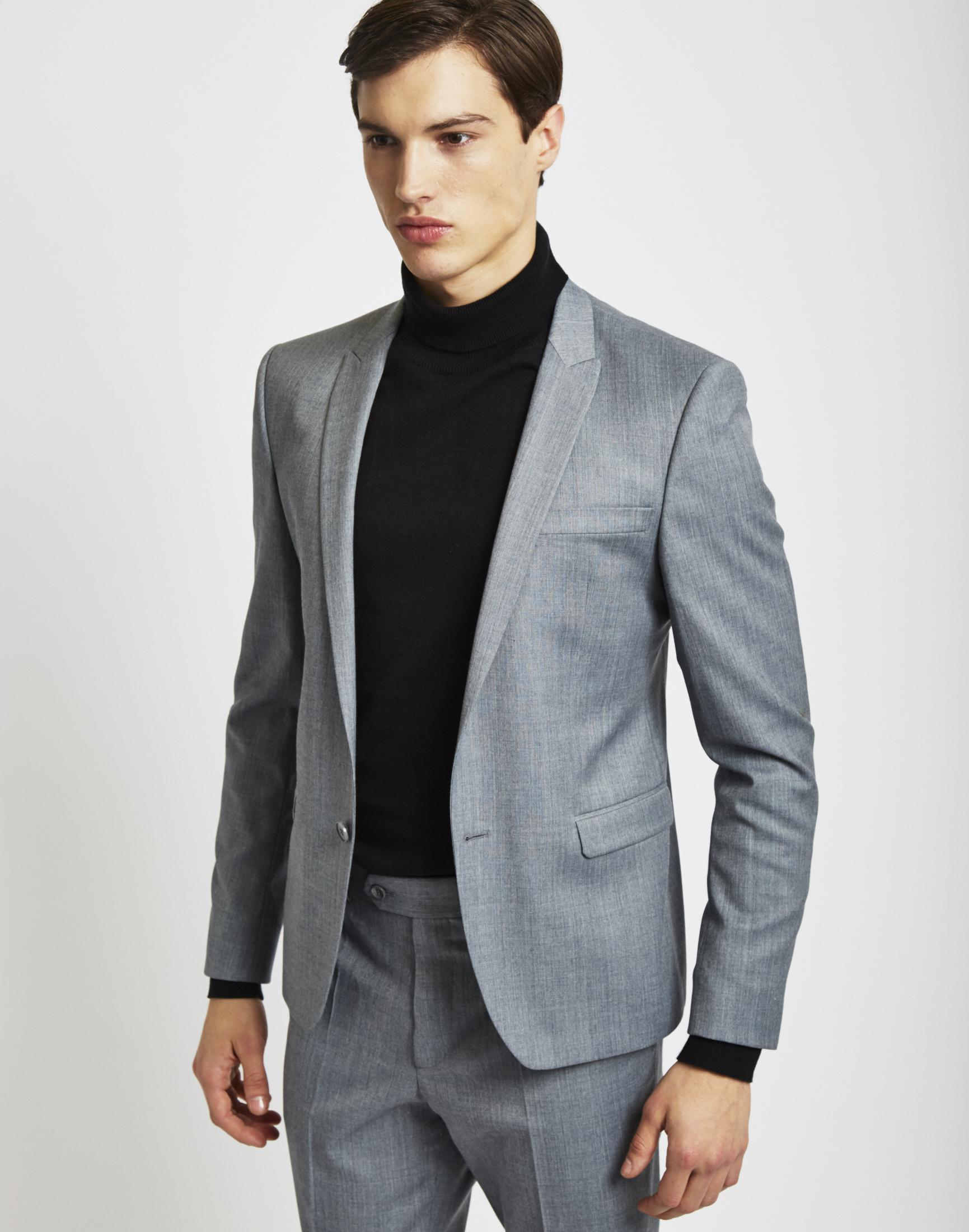 Lyst - The Idle Man Suit Jacket In Skinny Fit - Grey in Gray for Men