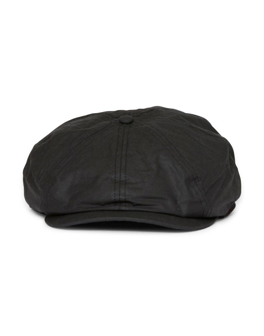 e32c1734110 Barbour Guillemot Bakerboy Hat Black in Black for Men - Lyst