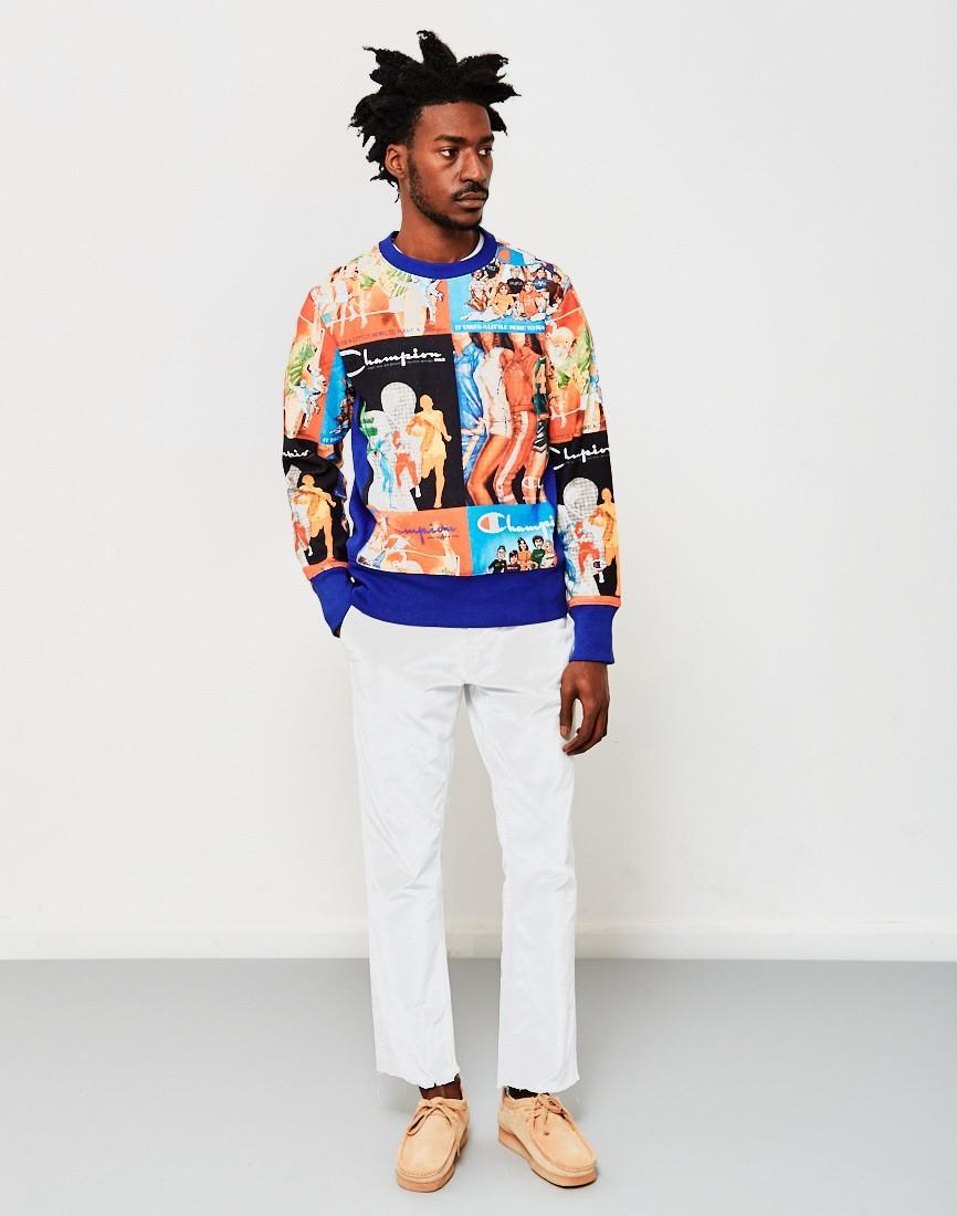 Champion limited edition classic weave print sweatshirt for Absolute tan salon milton fl