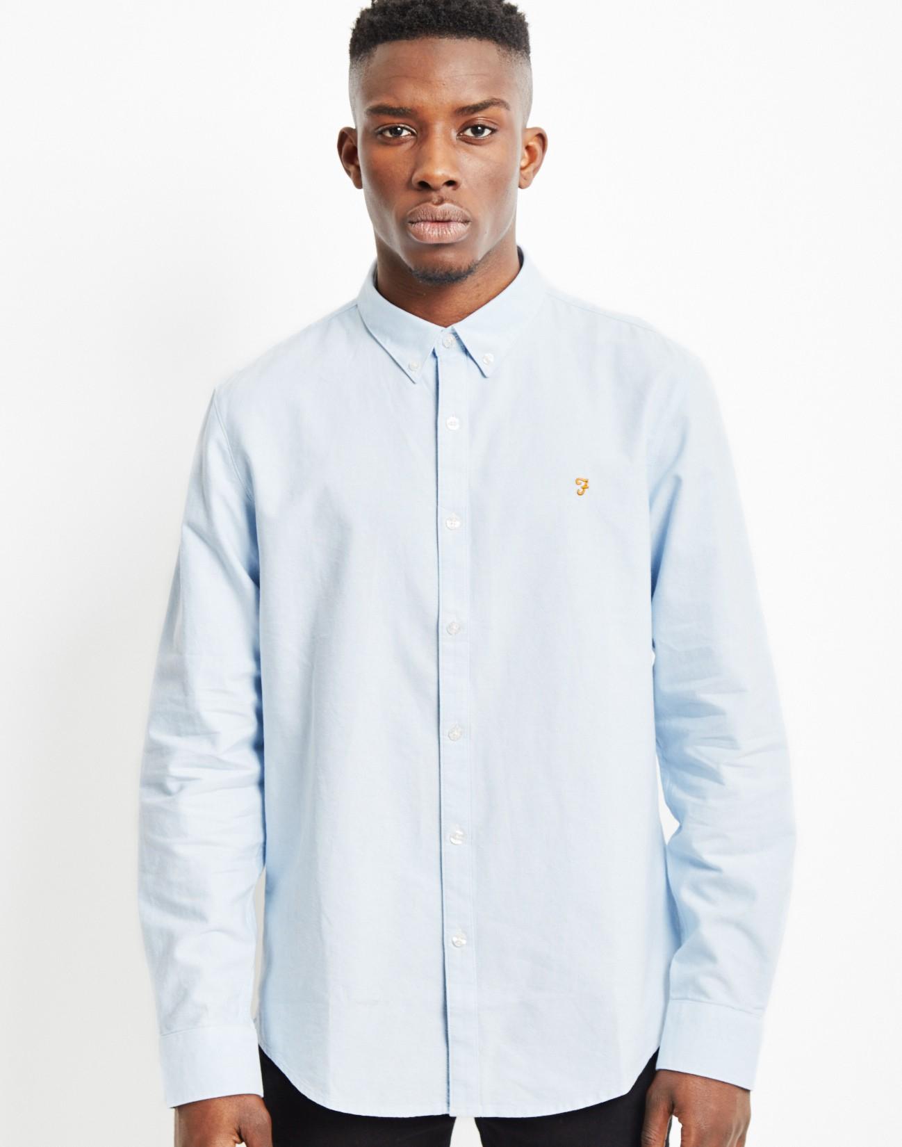 Farah Vintage Oxford Shirt Blue in Blue for Men