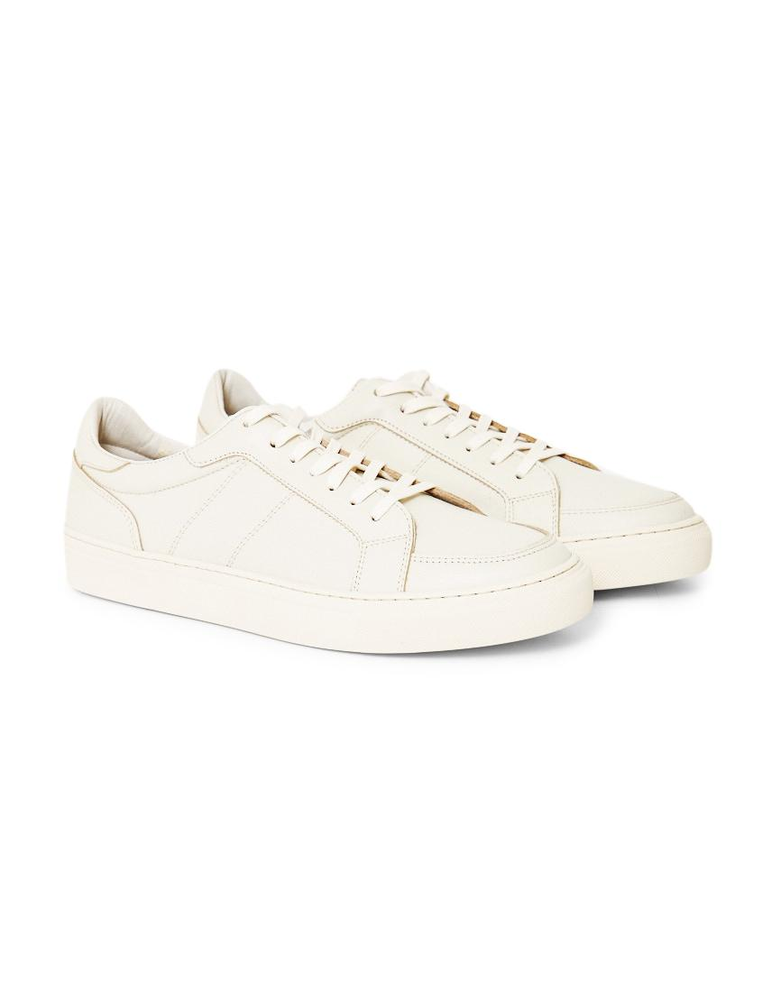 445b0a98da4f Lyst - Garment Project Off Court Leather Trainers Off White in White ...